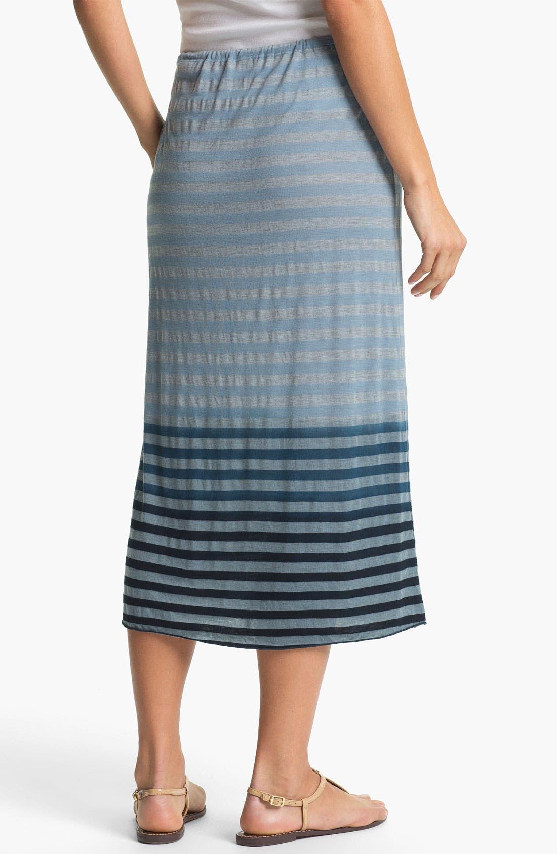 Alternate Image 2  - Allen Allen Ombré Stripe Tube Skirt