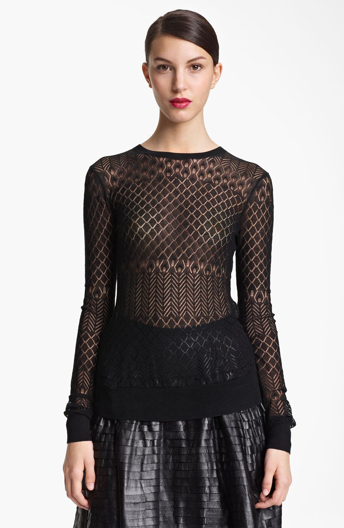 Alternate Image 1 Selected - Jason Wu Pointelle Knit Pullover