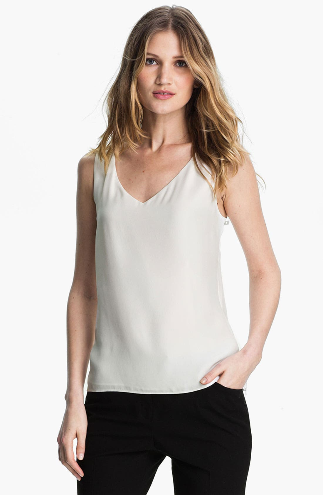 Alternate Image 1 Selected - Lafayette 148 New York Matte Silk Tank