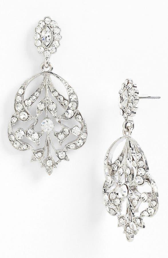 Nina \'Begonia\' Openwork Crystal Chandelier Earrings | Nordstrom