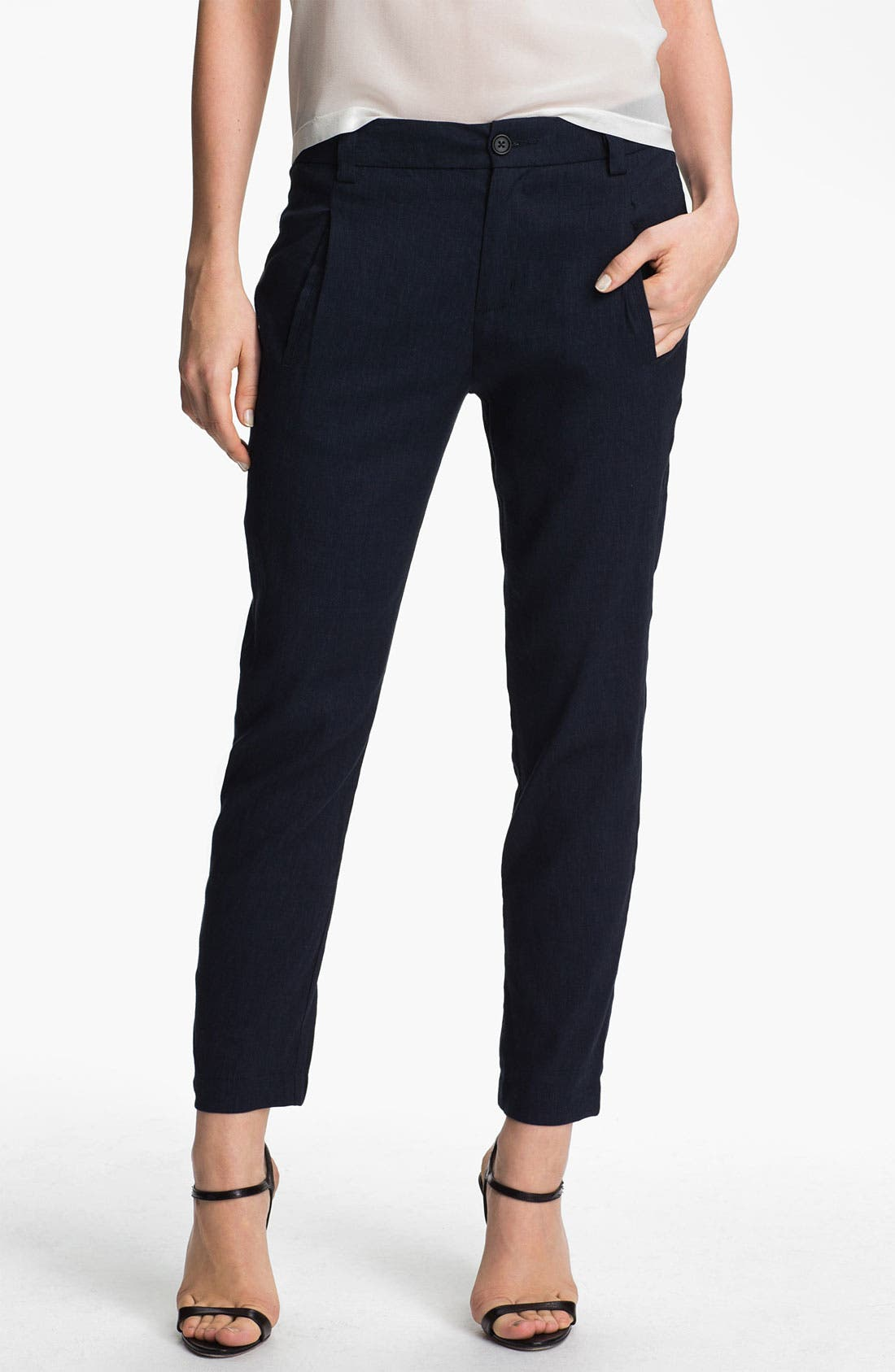 Alternate Image 1 Selected - Vince Crop Twill Pants