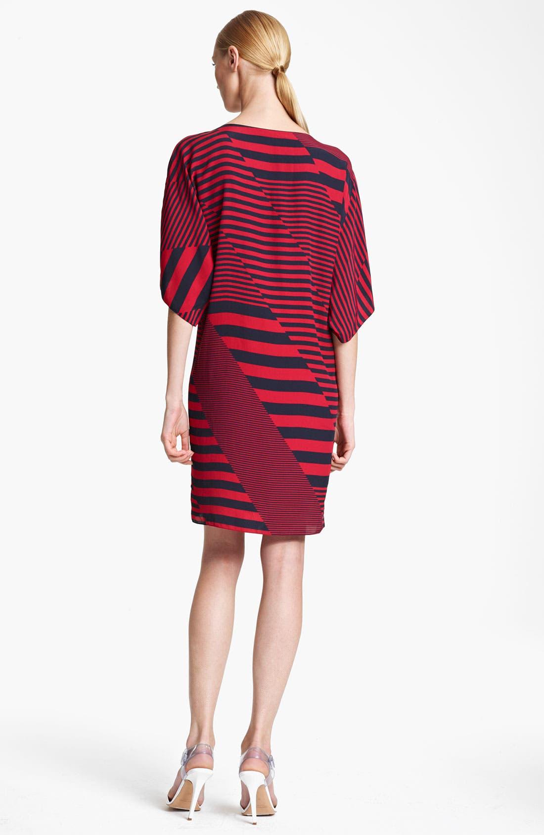 Alternate Image 2  - Michael Kors Stripe Print Marocain Dress