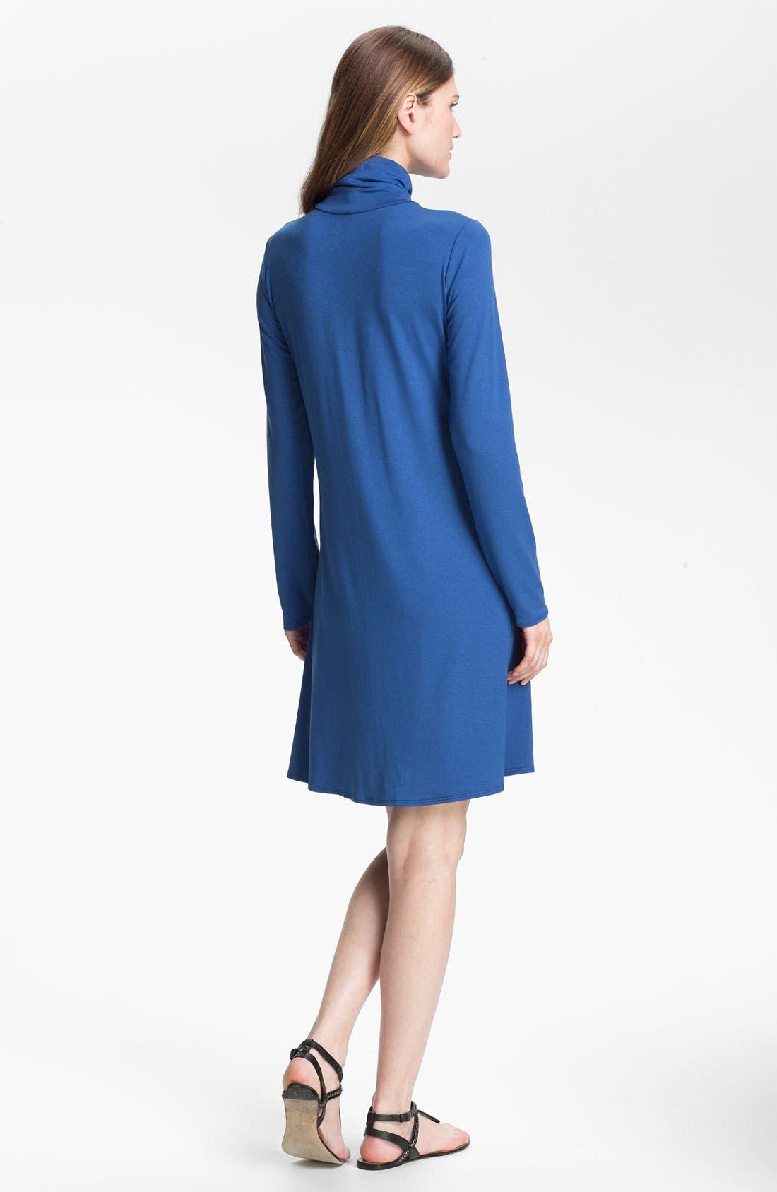 Alternate Image 2  - Eileen Fisher Scrunch Neck Dress