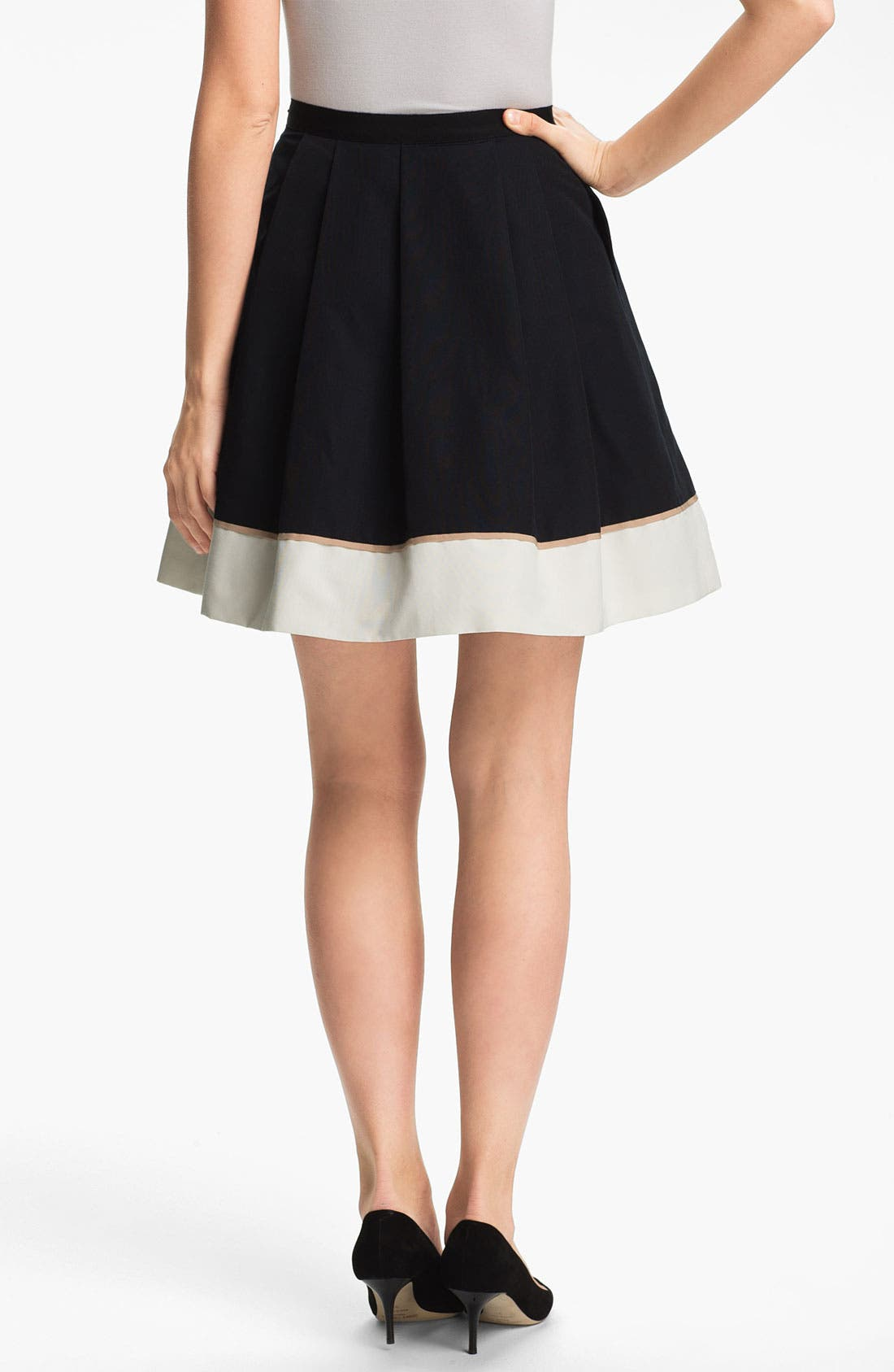Alternate Image 2  - Miss Wu Hem Detail Faille Skirt (Nordstrom Exclusive)
