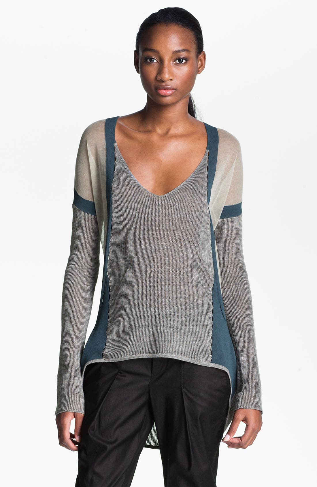 Alternate Image 1 Selected - Helmut Lang Contrast Border Pullover