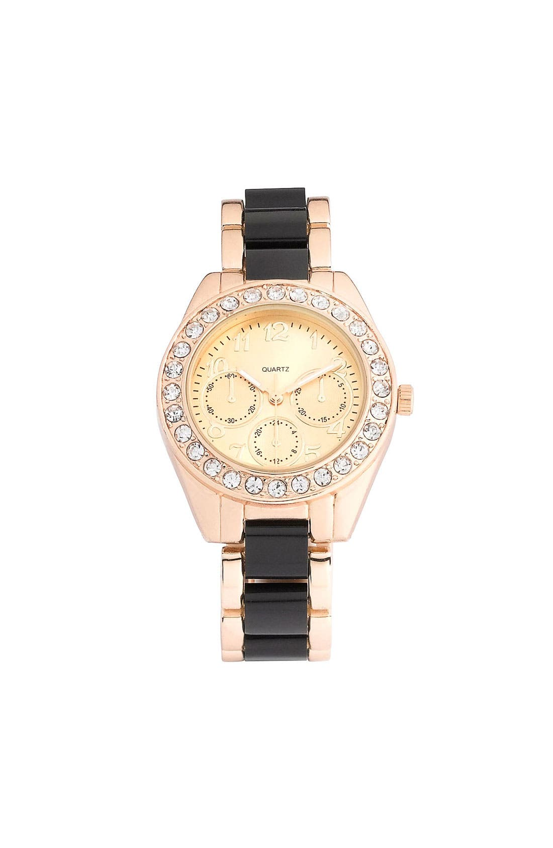 Main Image - Titanium Rhinestone Accent Two-Tone Watch