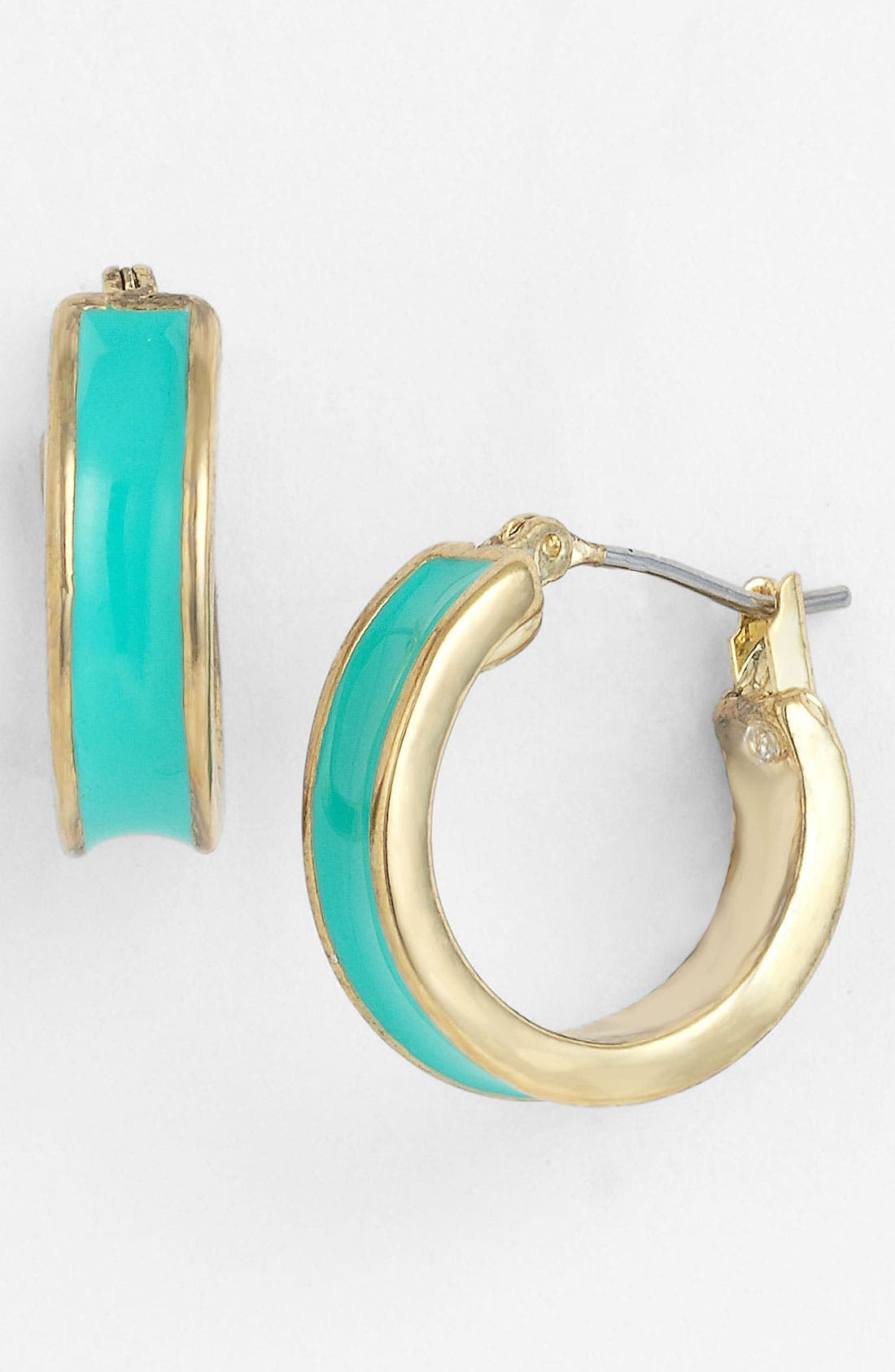 Alternate Image 1 Selected - Anne Klein Enamel Hoop Earrings