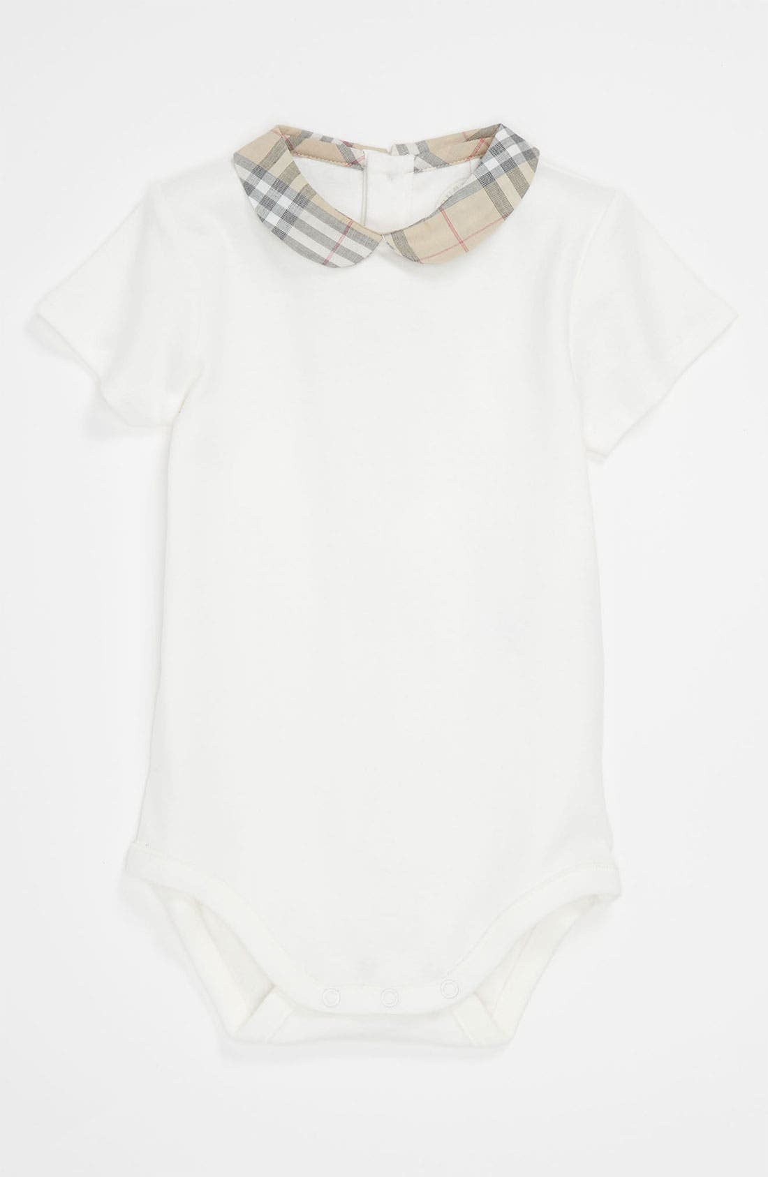 Burberry Peter Pan Collar Bodysuit (Infant)
