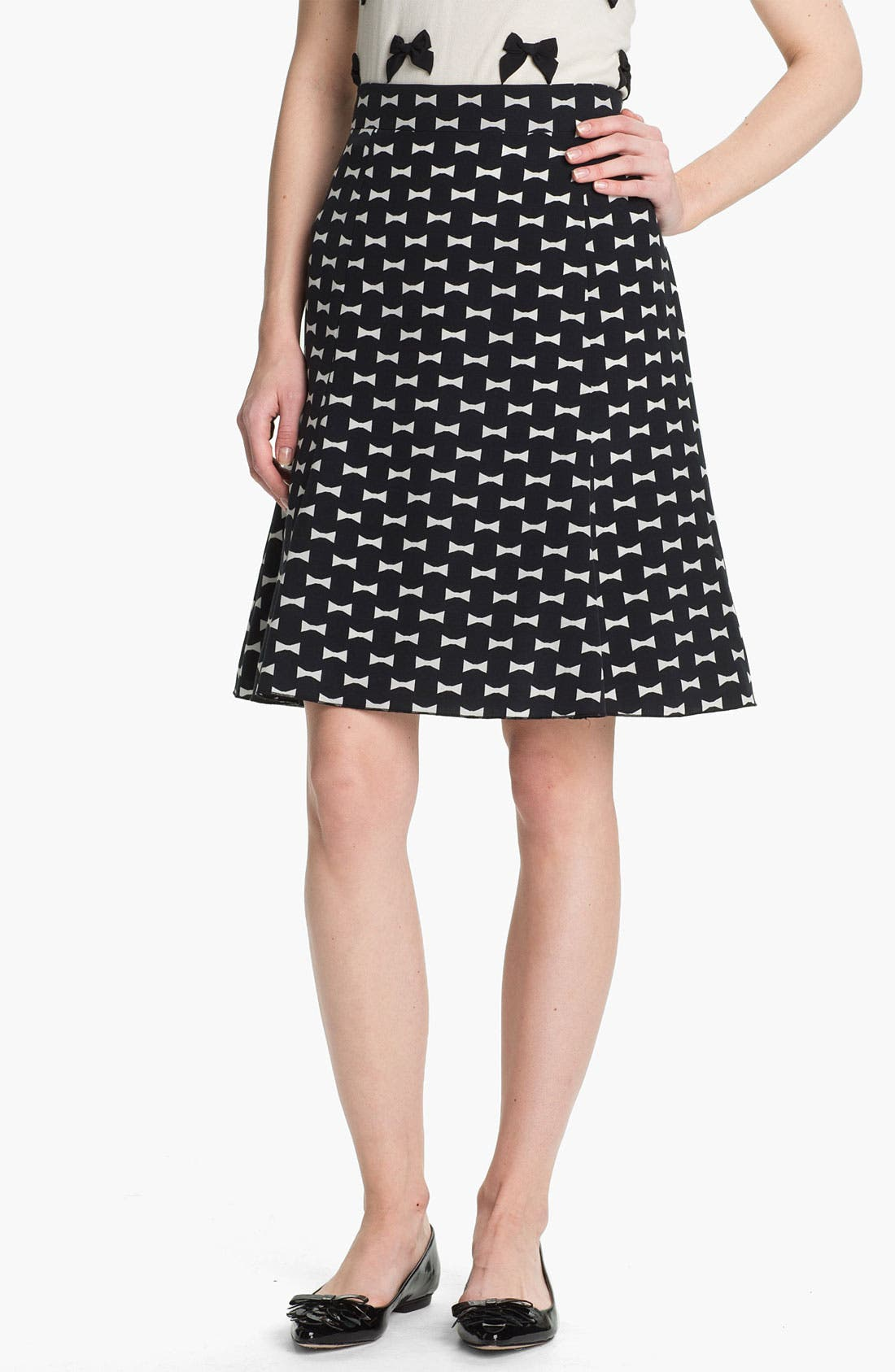 Main Image - kate spade new york 'flirt' silk blend skirt