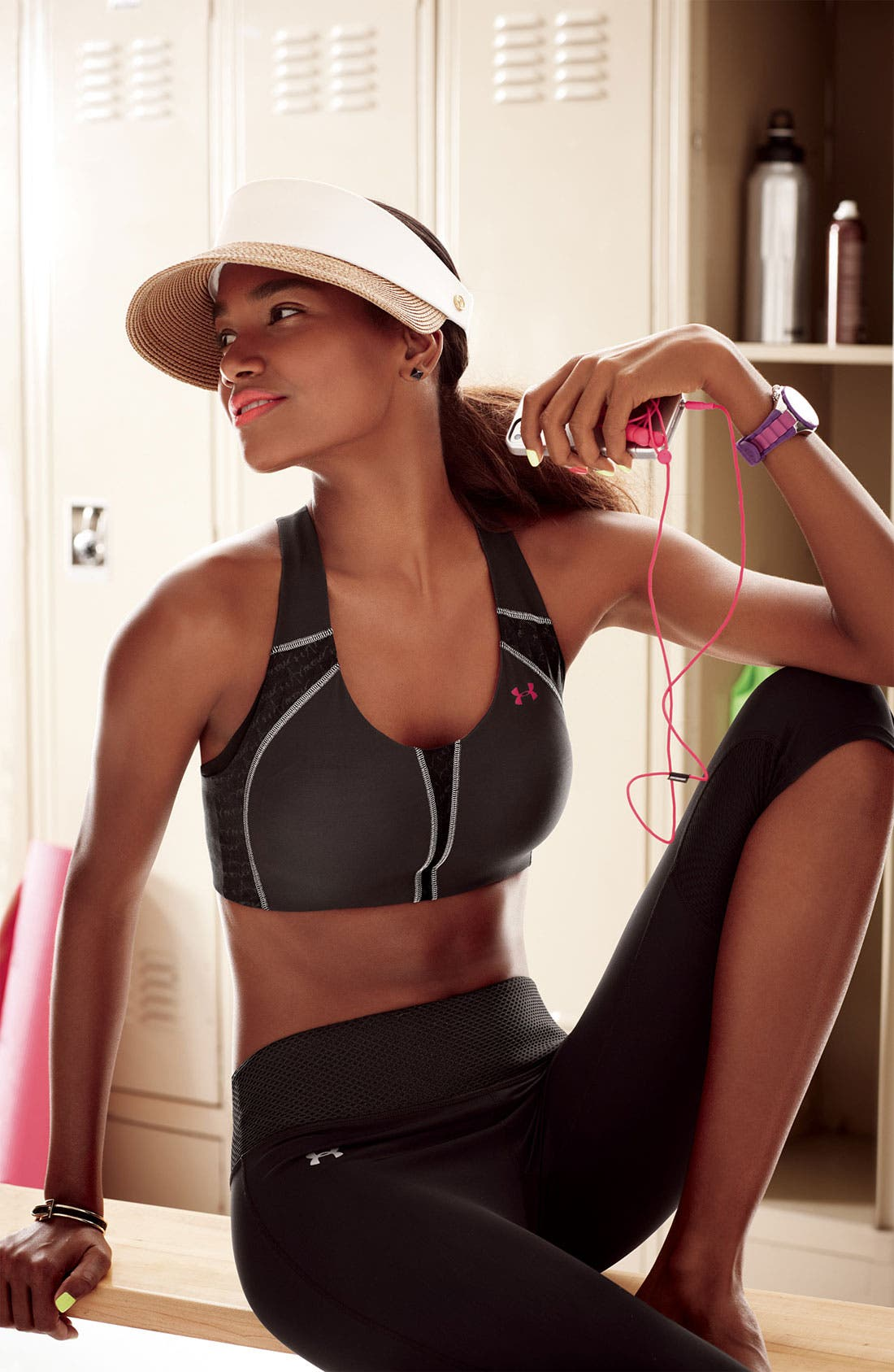 Alternate Image 4  - Under Armour 'Armour' Sports Bra (D Cup)