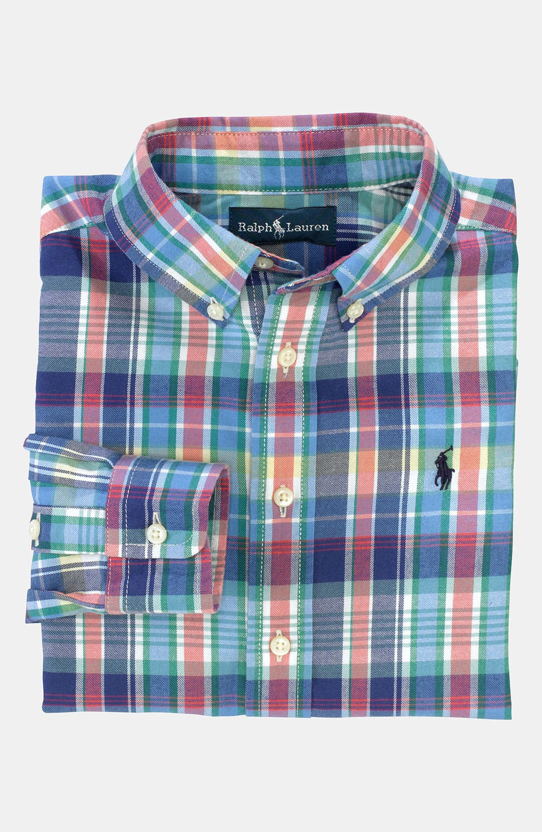 Main Image - Ralph Lauren Woven Shirt (Toddler)