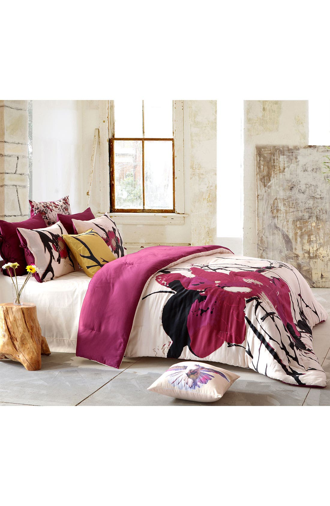 Alternate Image 2  - kensie 'Blossom' 300 Thread Count Duvet Cover Set (Online Only)