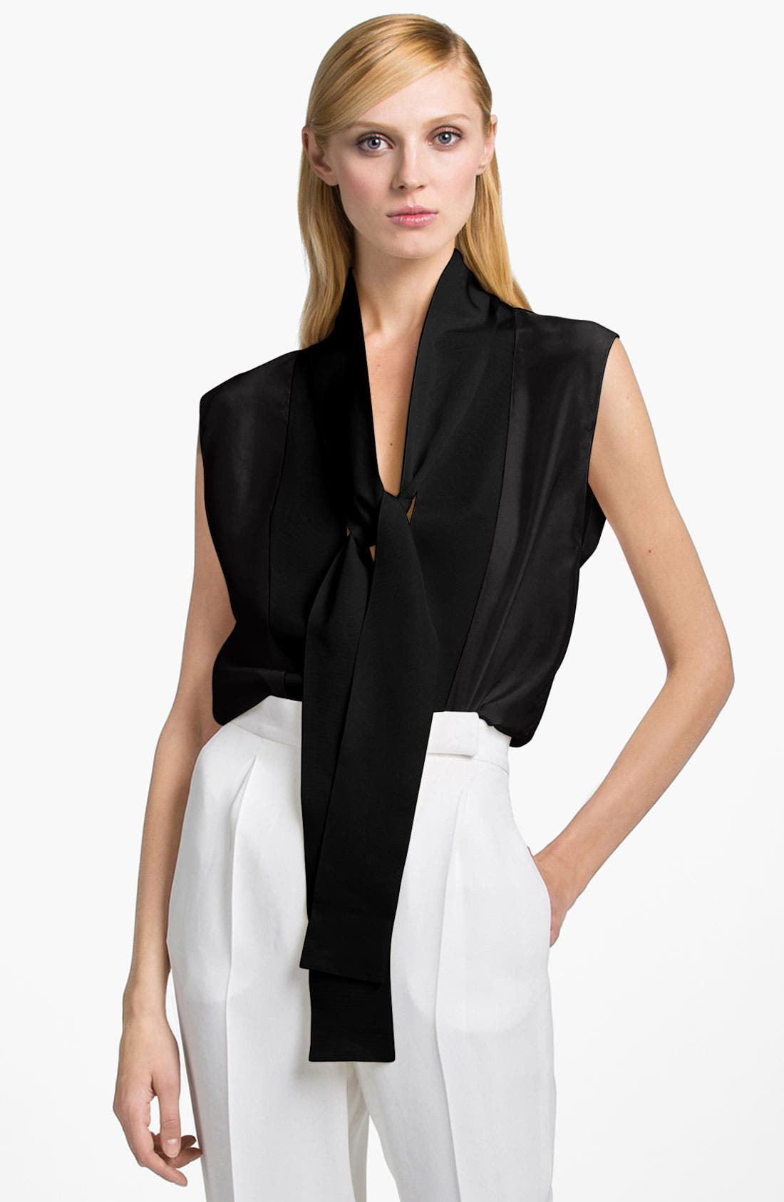 Main Image - Lanvin Sleeveless Tie Neck Blouse