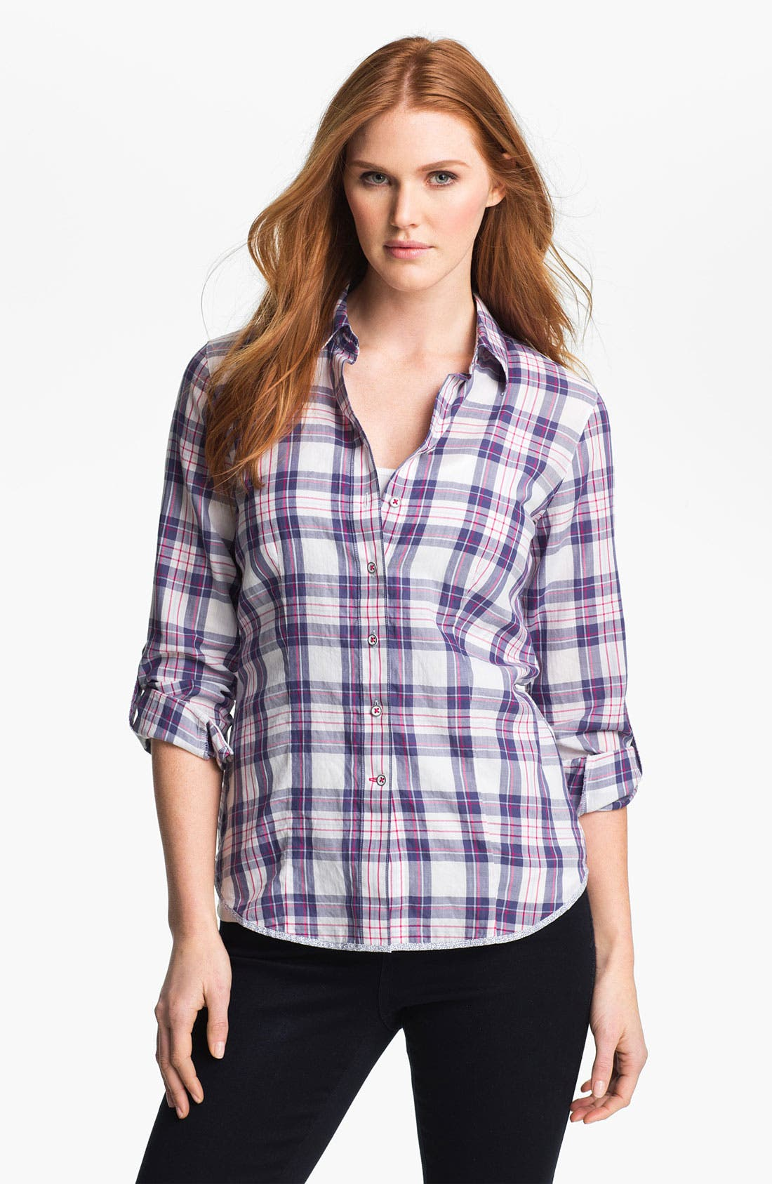 Main Image - Shirt 469 Plaid Poplin Shirt