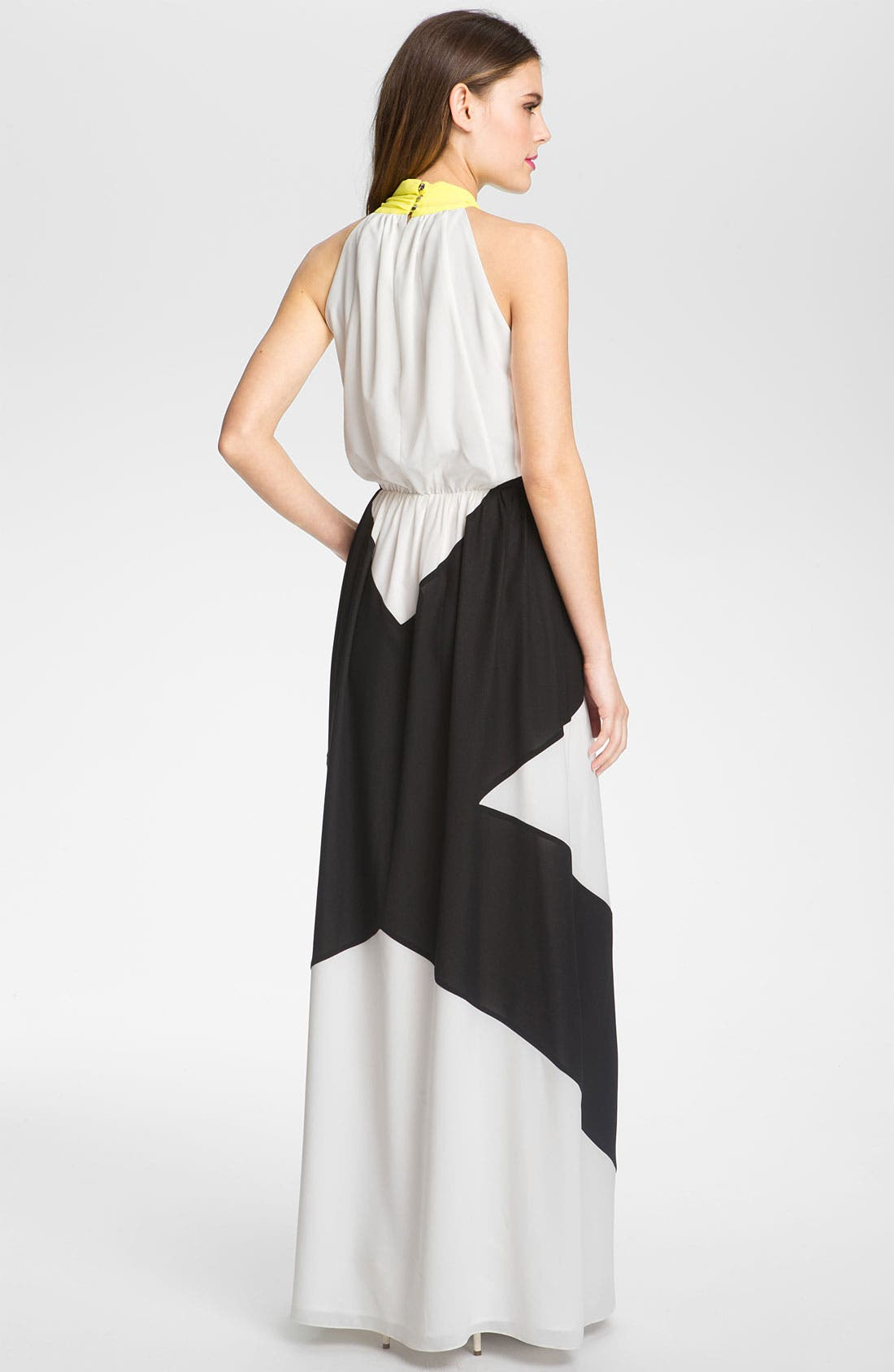 Alternate Image 2  - Vince Camuto Colorblocked Chiffon Maxi Dress