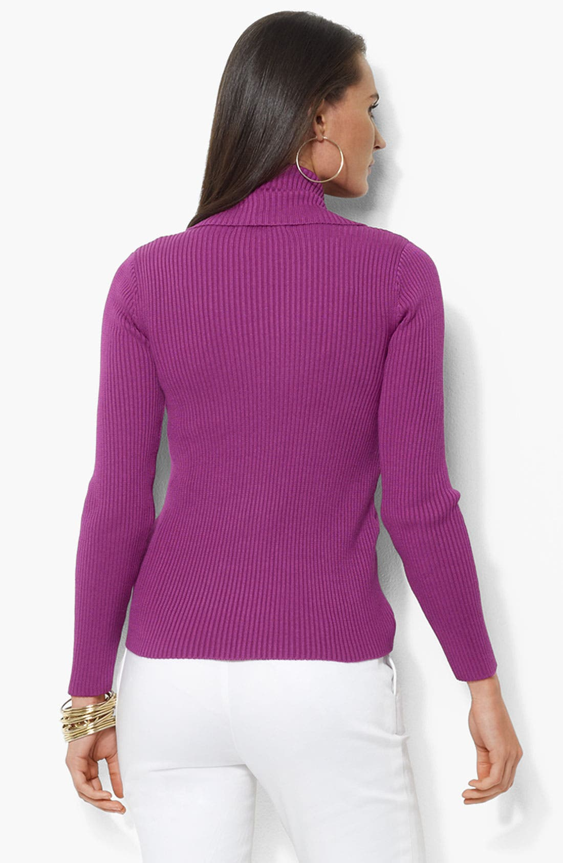 Alternate Image 2  - Lauren by Ralph Lauren Open Front Cardigan (Petite)