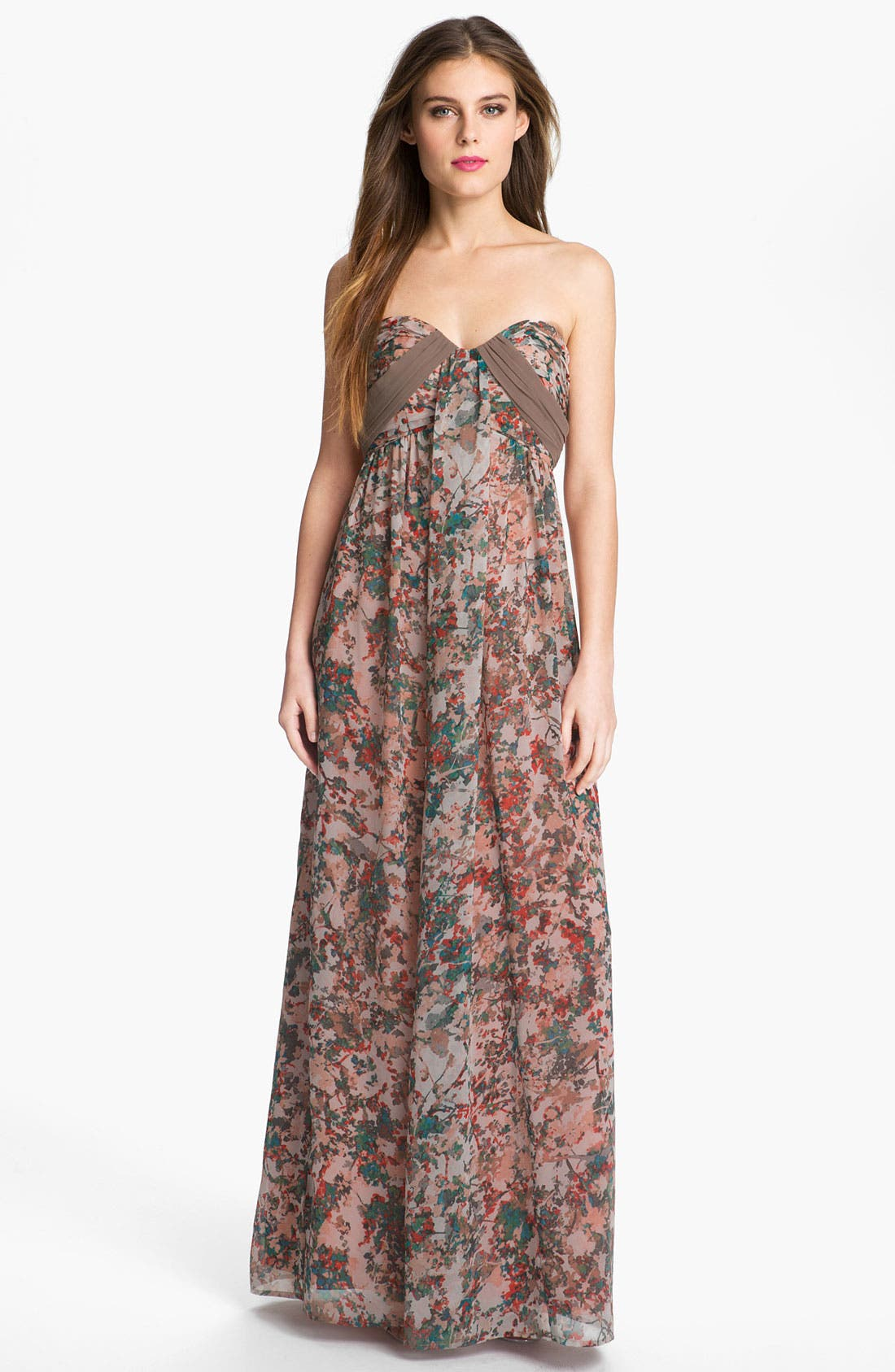 Alternate Image 1 Selected - Jessica Simpson 'Misty Rose' Print Maxi Dress