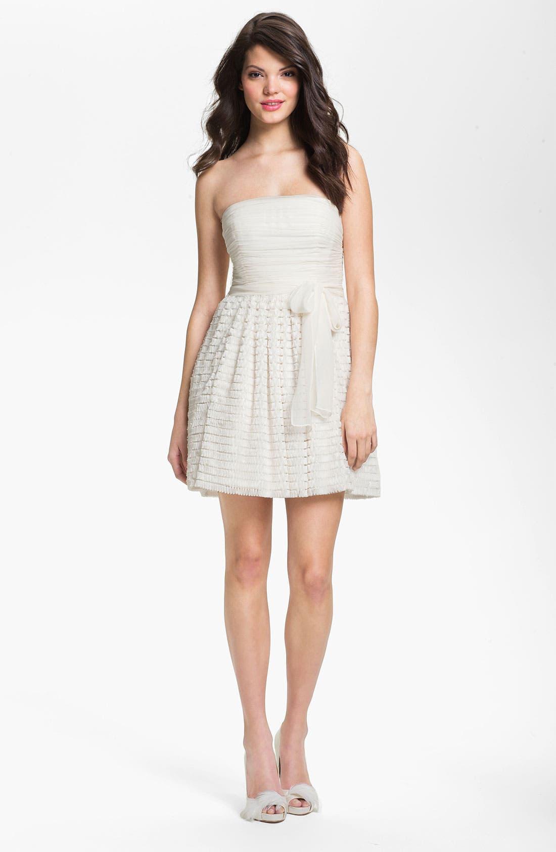 Alternate Image 1 Selected - Jill Jill Stuart Ruffled Chiffon Fit & Flare Dress