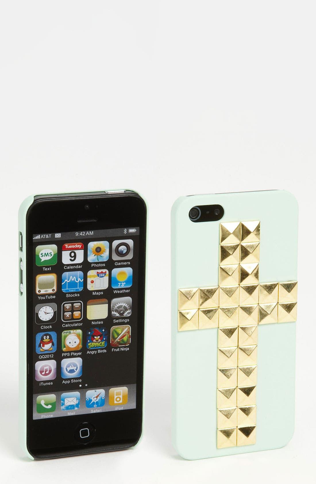Main Image - BP. 'Studded Cross' iPhone 5 Case