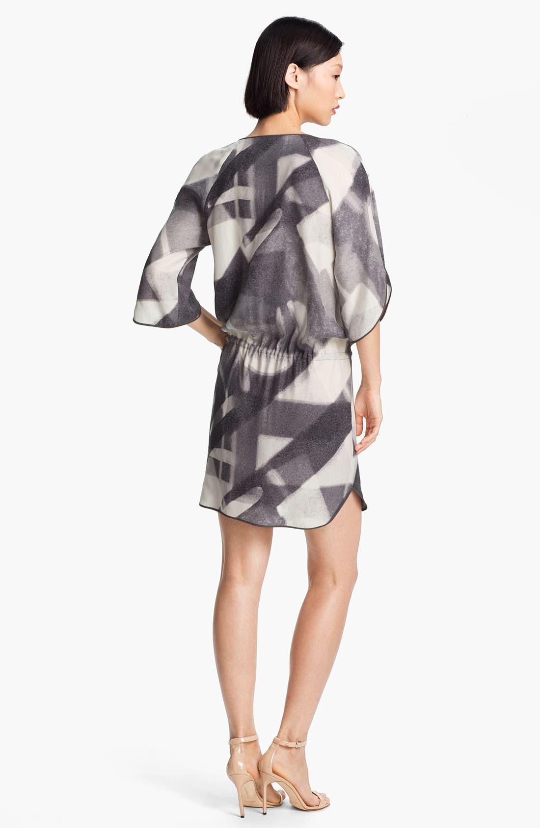 Alternate Image 2  - Halston Heritage Print Silk Tunic Dress