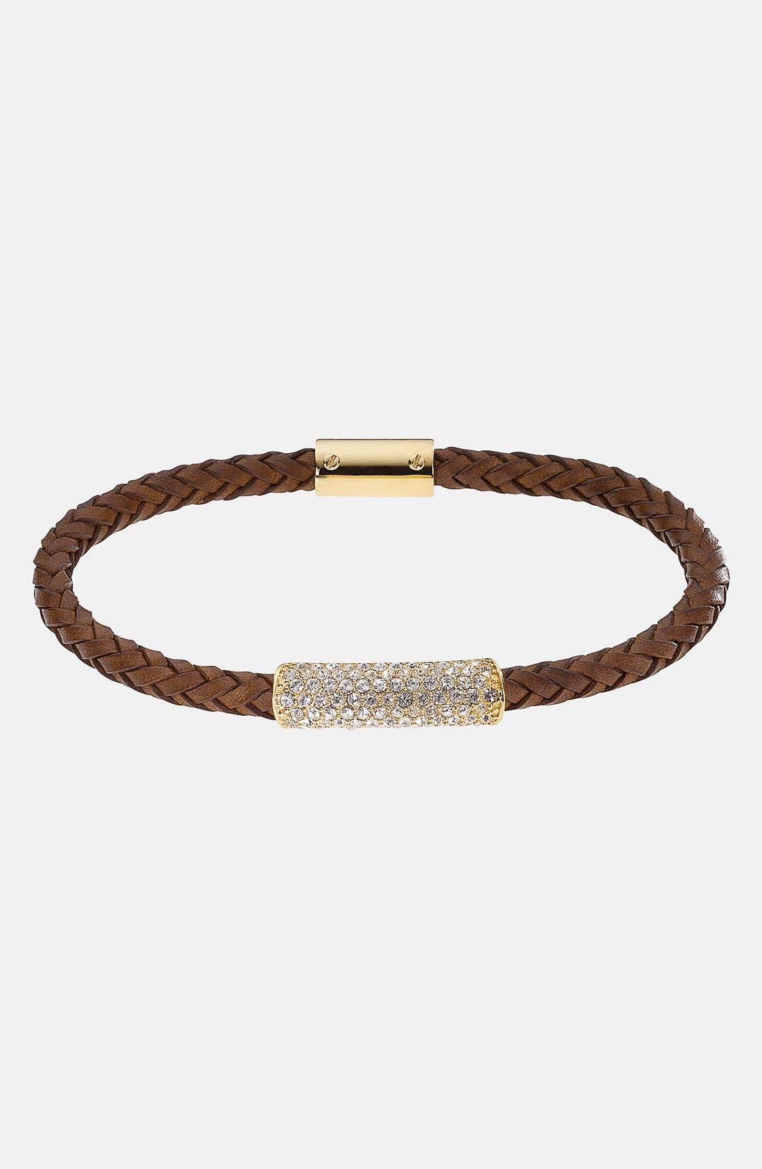 Alternate Image 1 Selected - Michael Kors 'Skorpios' Skinny Leather Rope Bracelet