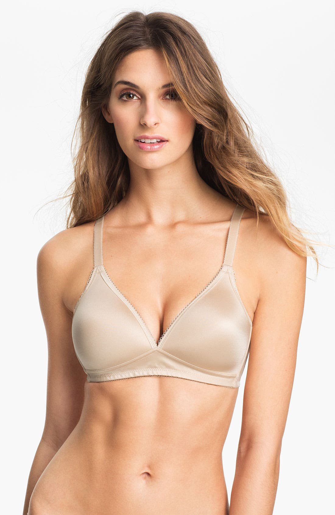 Basic Beauty Soft Cup Bra,                             Main thumbnail 1, color,                             Naturally Nude