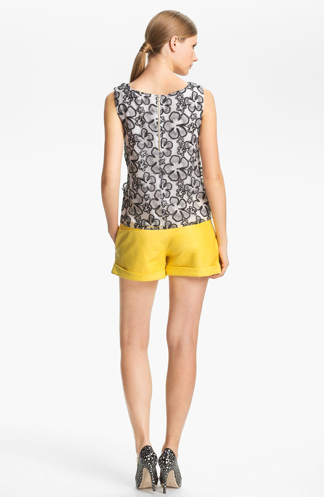 Alternate Image 4  - Alice + Olivia Flower Embellished Tank