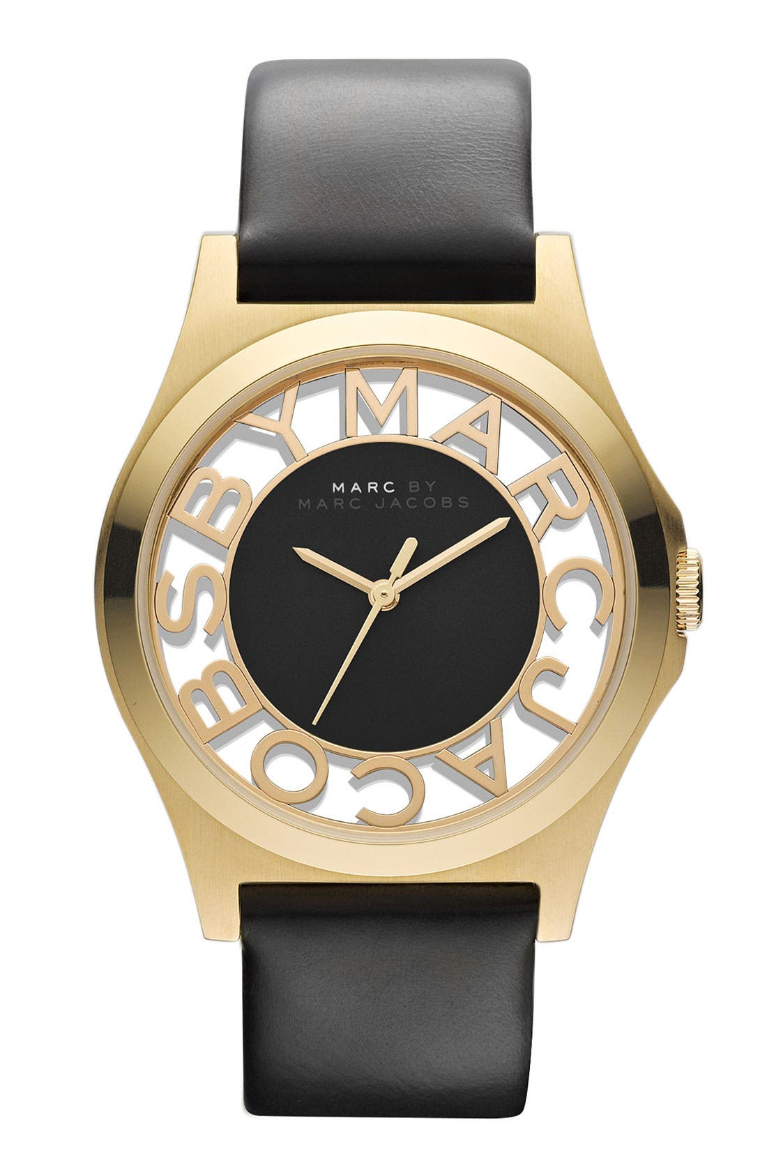 Alternate Image 1 Selected - MARC BY MARC JACOBS 'Henry Skeleton' Watch, 40mm