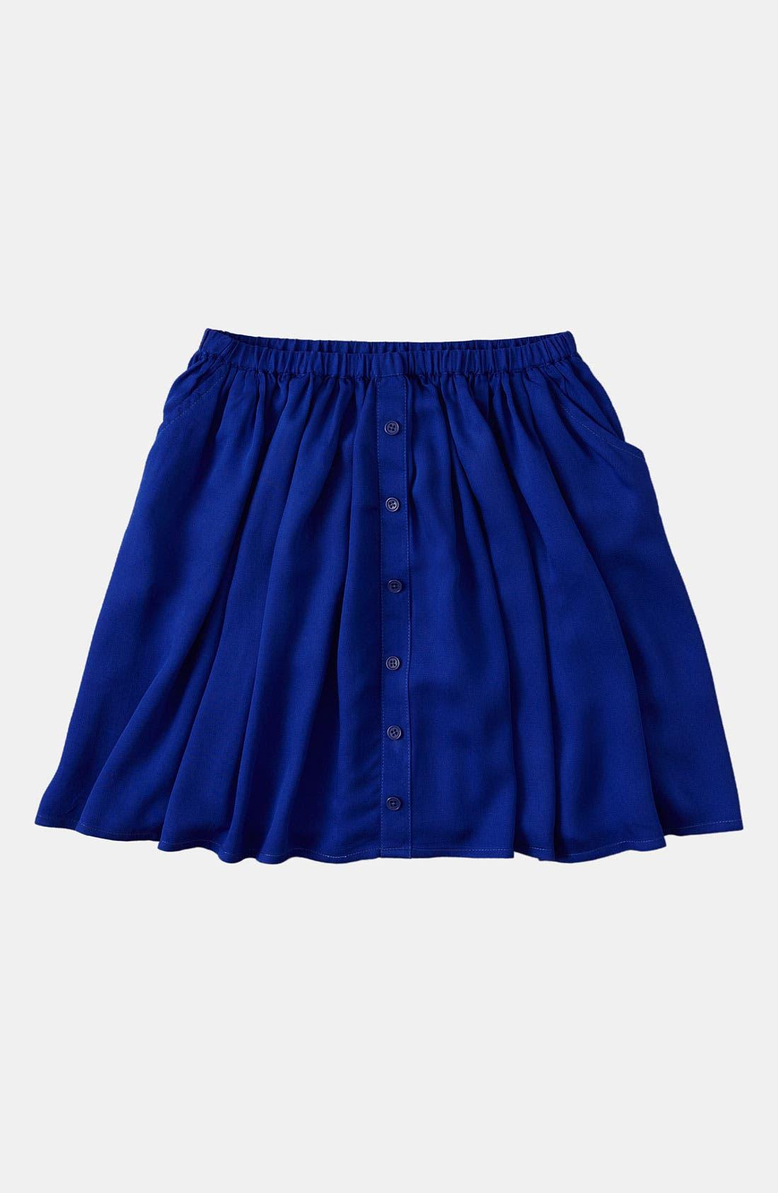 Main Image - Johnnie B by Boden Button Skirt (Big Girls)