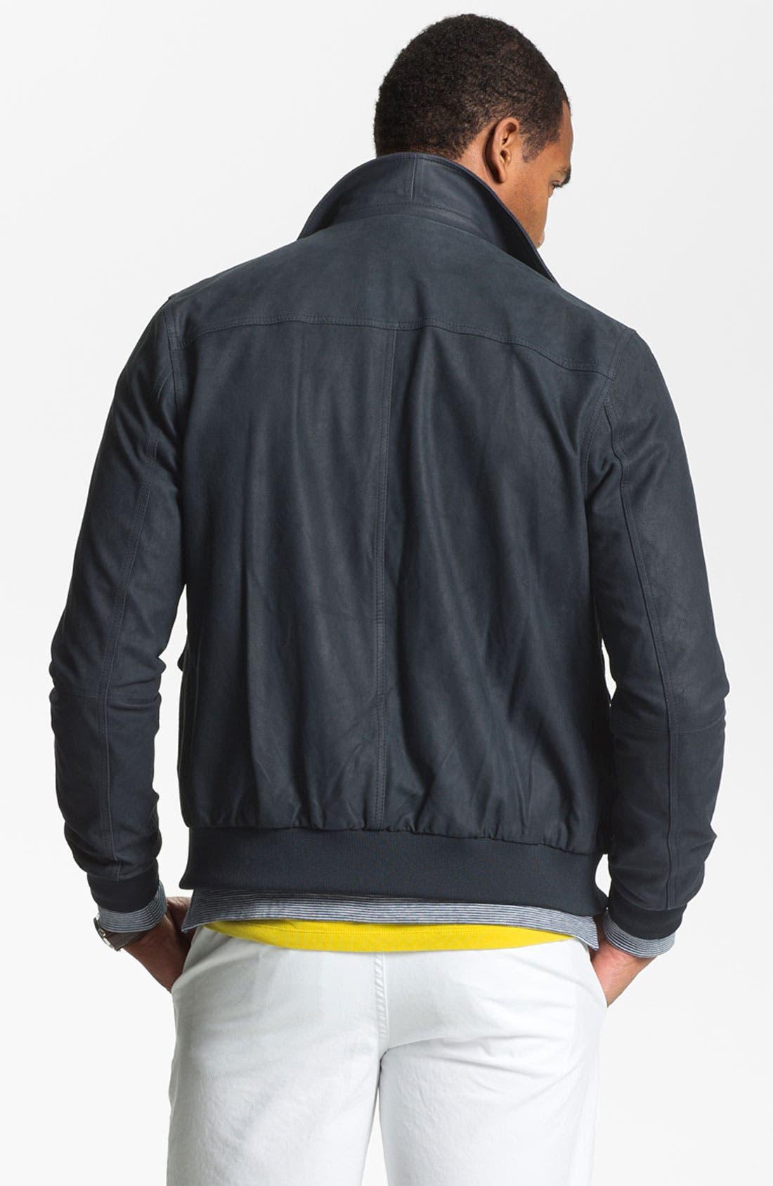 Alternate Image 2  - Michael Kors 'Lux' Suede Bomber Jacket