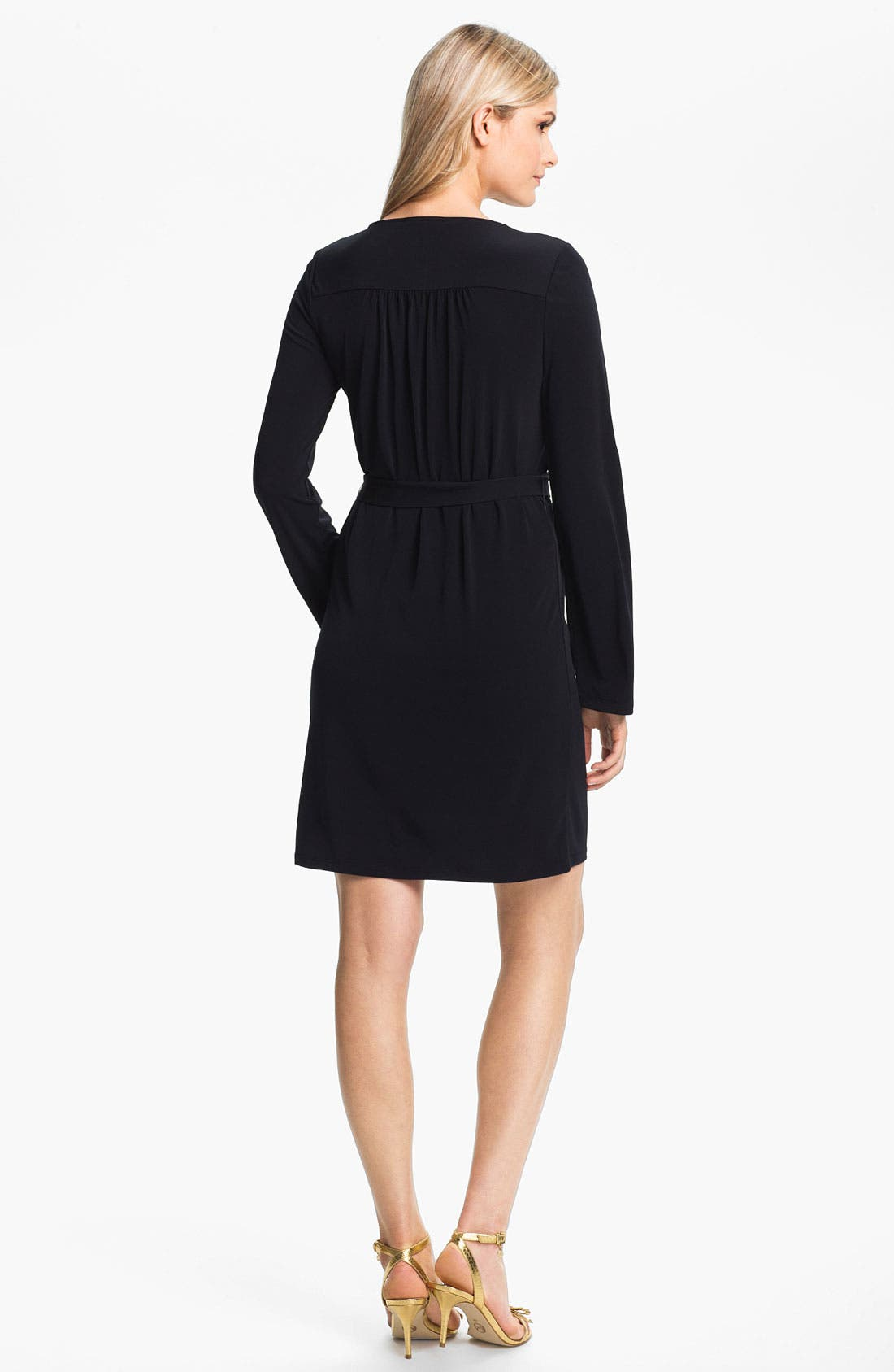 Alternate Image 2  - MICHAEL Michael Kors Chain Lace-Up Jersey Dress (Regular & Petite)