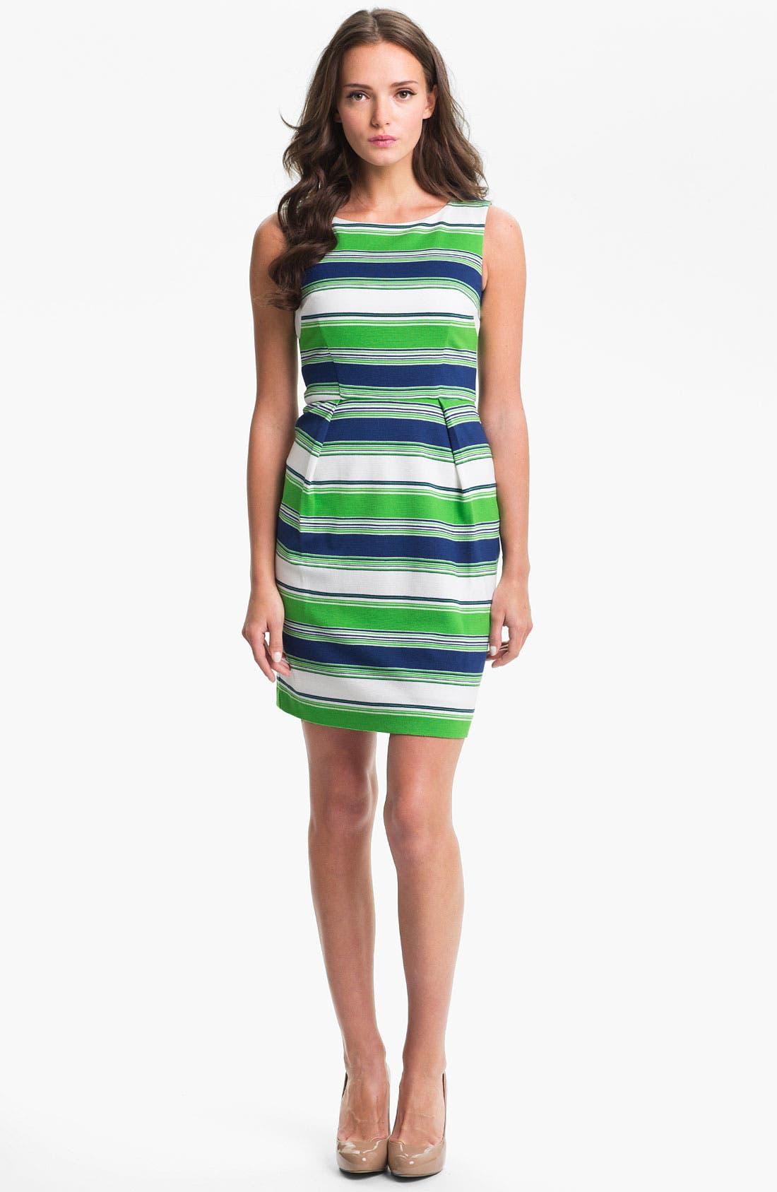 Main Image - Trina Turk 'Spectator' Stripe Ponte Sheath Dress