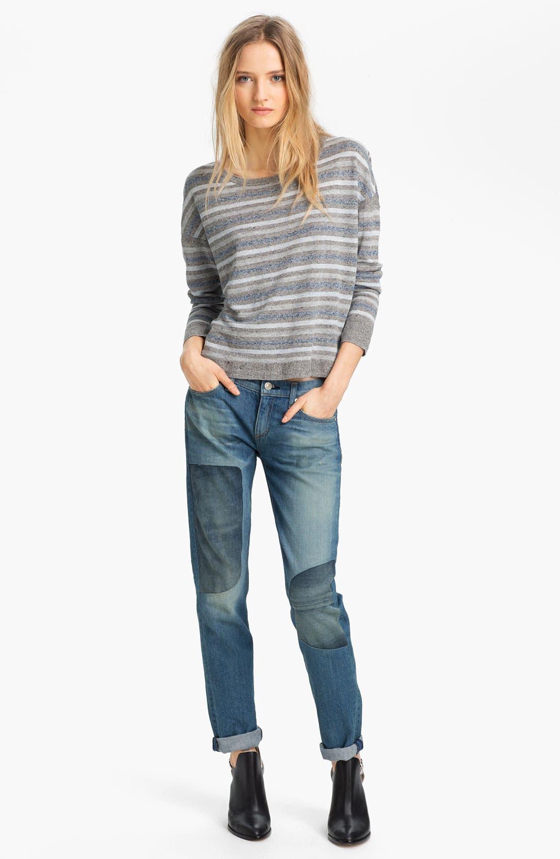 Alternate Image 3  - rag & bone/JEAN 'The Dre' Patch Detail Rigid Jeans