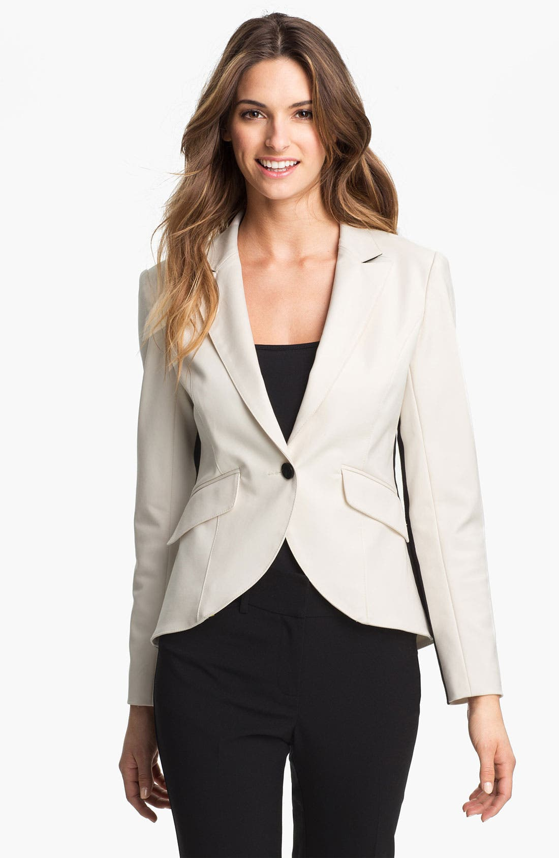 Alternate Image 1 Selected - Adrianna Papell One Button Blazer