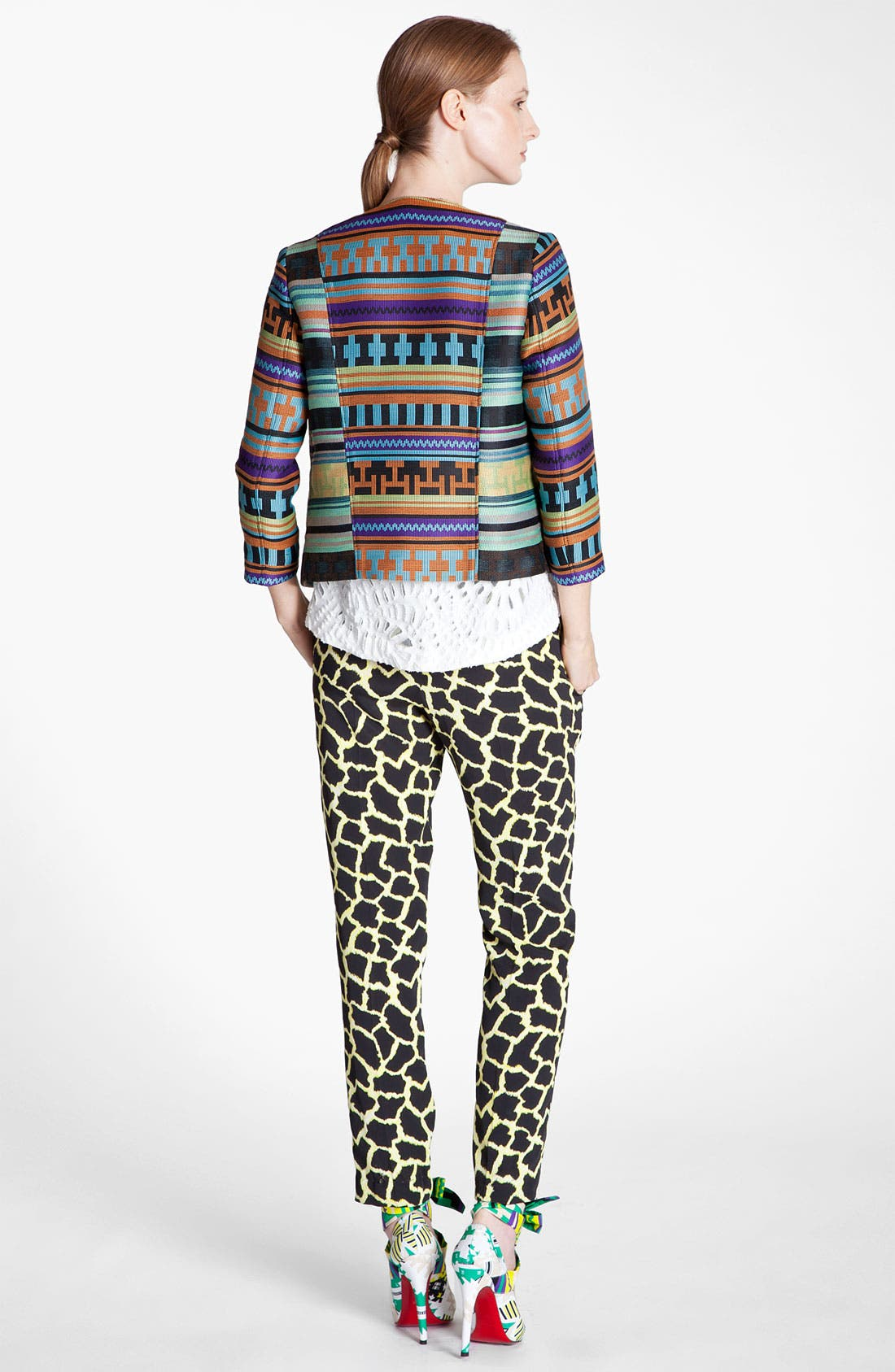 Alternate Image 3  - MSGM Giraffe Print Straight Leg Pants