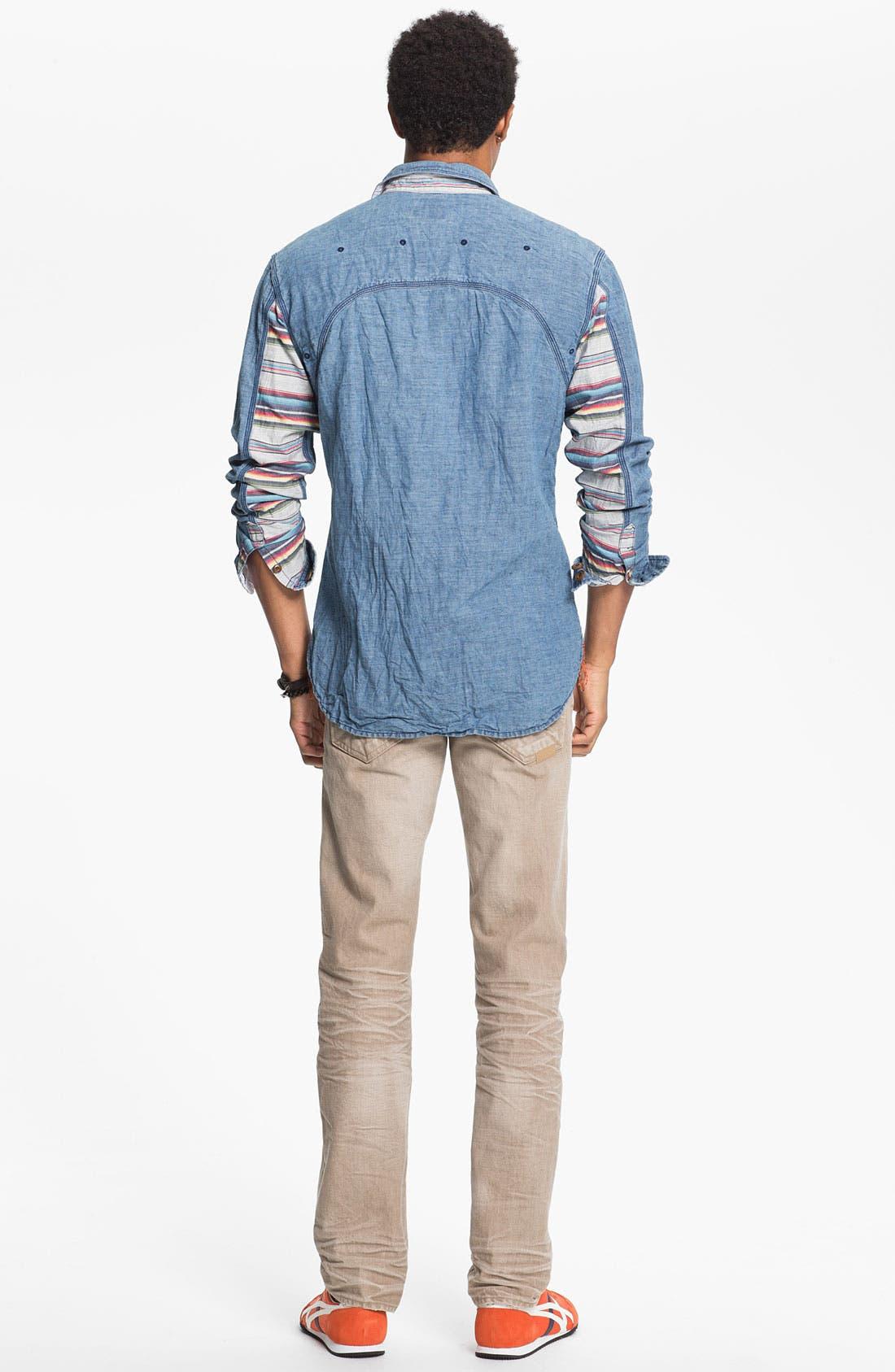 Alternate Image 6  - PRPS 'Vesta Rambler' Slim Fit Jeans (Beige)