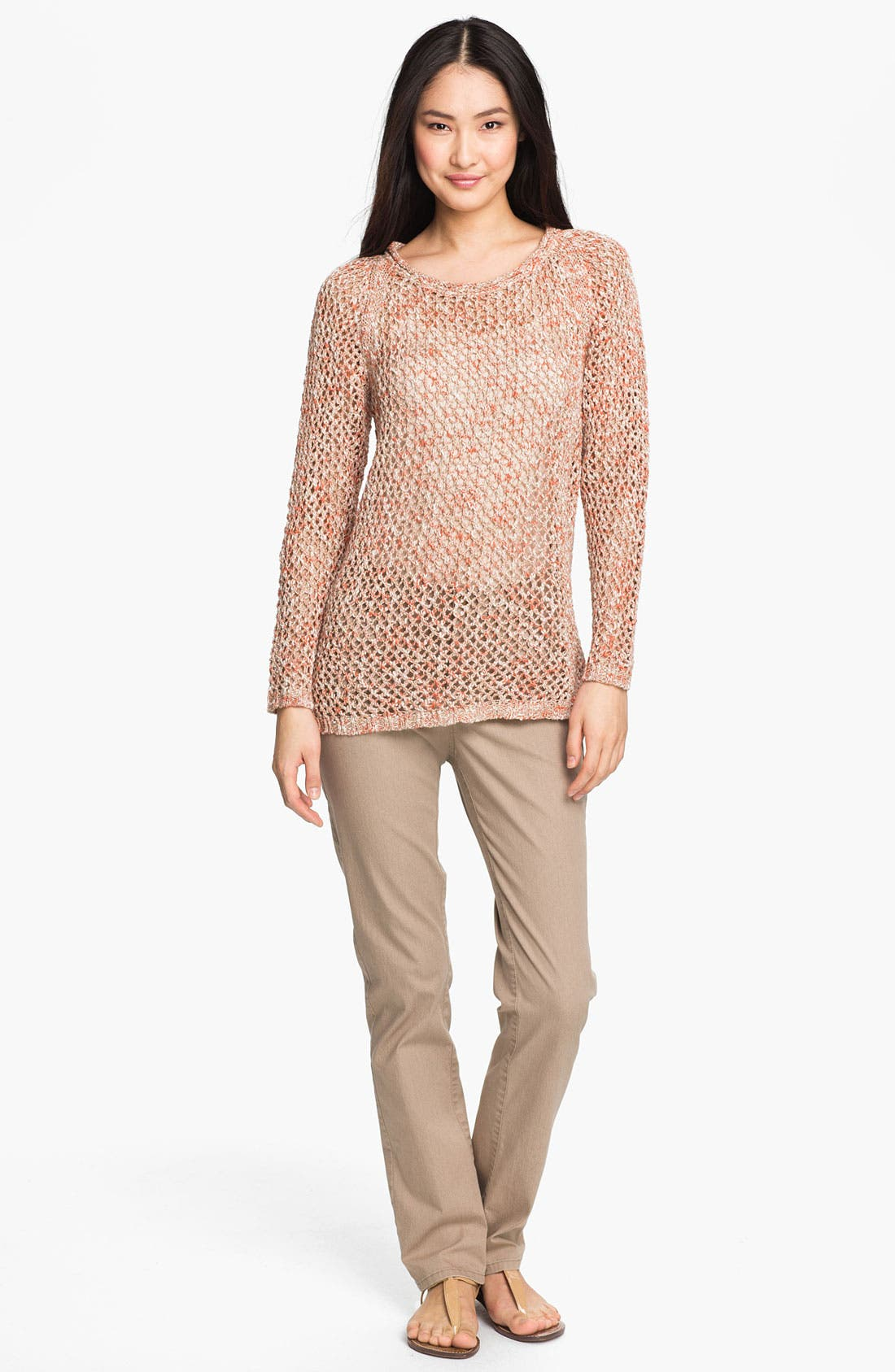 Alternate Image 4  - Lafayette 148 New York Open Stitch Sweater