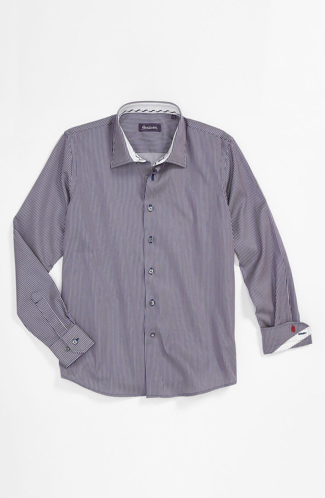 Alternate Image 1 Selected - Robert Graham 'Brad' Dress Shirt (Big Boys)
