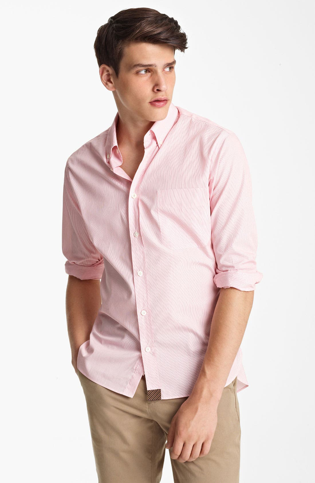 Alternate Image 1 Selected - Billy Reid 'Rosedale' Stripe Woven Shirt