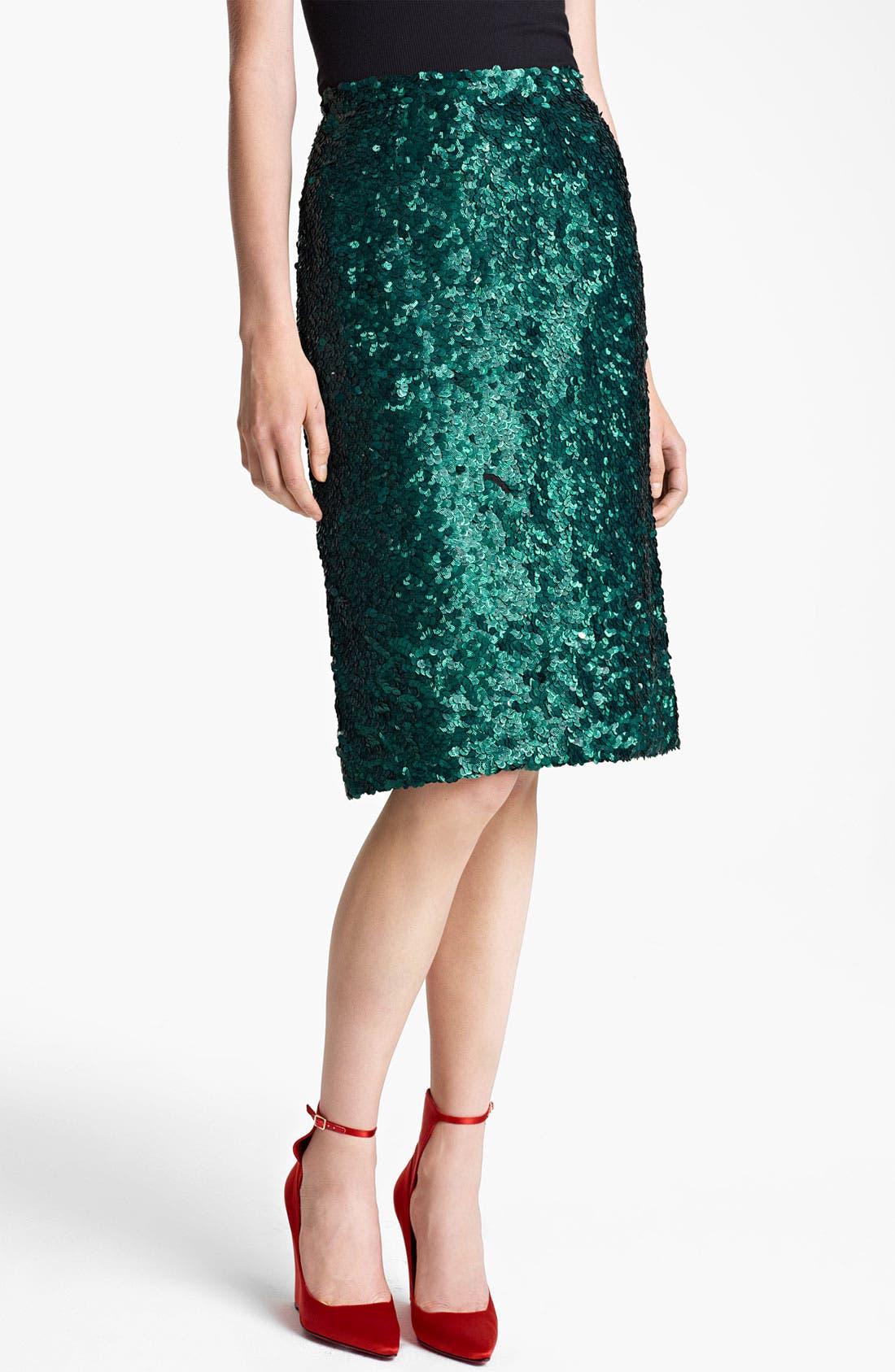 Alternate Image 1 Selected - Burberry Prorsum Sequin Pencil Skirt