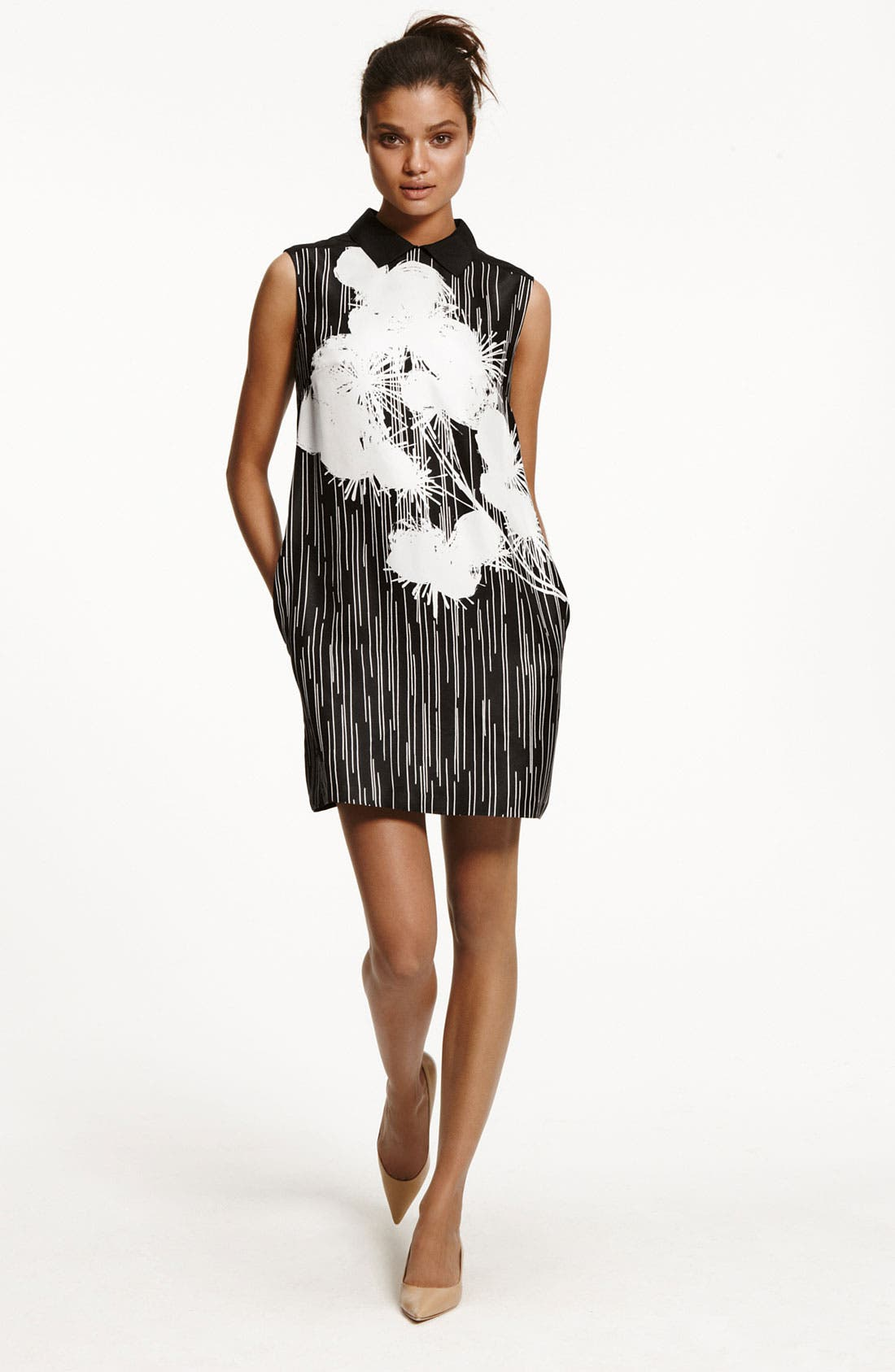 Alternate Image 5  - Miss Wu Floral Print Silk Dress (Nordstrom Exclusive)