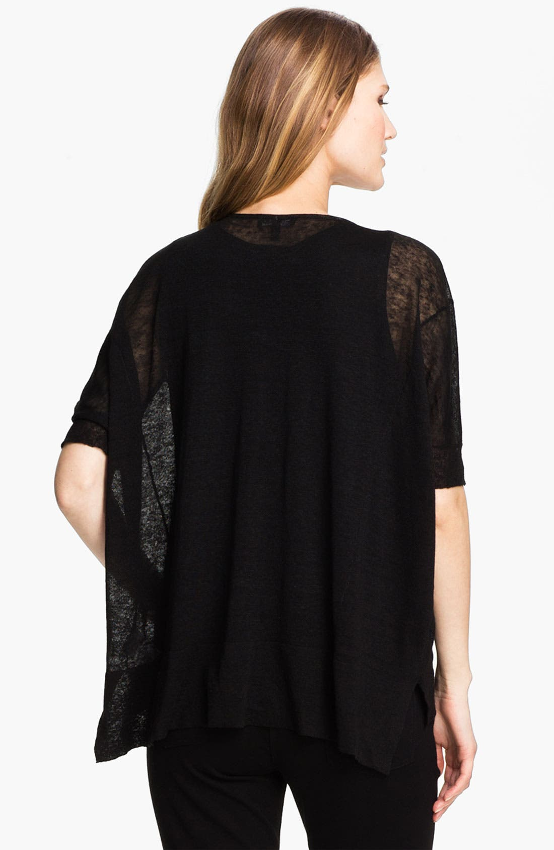 Alternate Image 2  - Eileen Fisher Sheer Hemp Blend Cardigan (Petite)