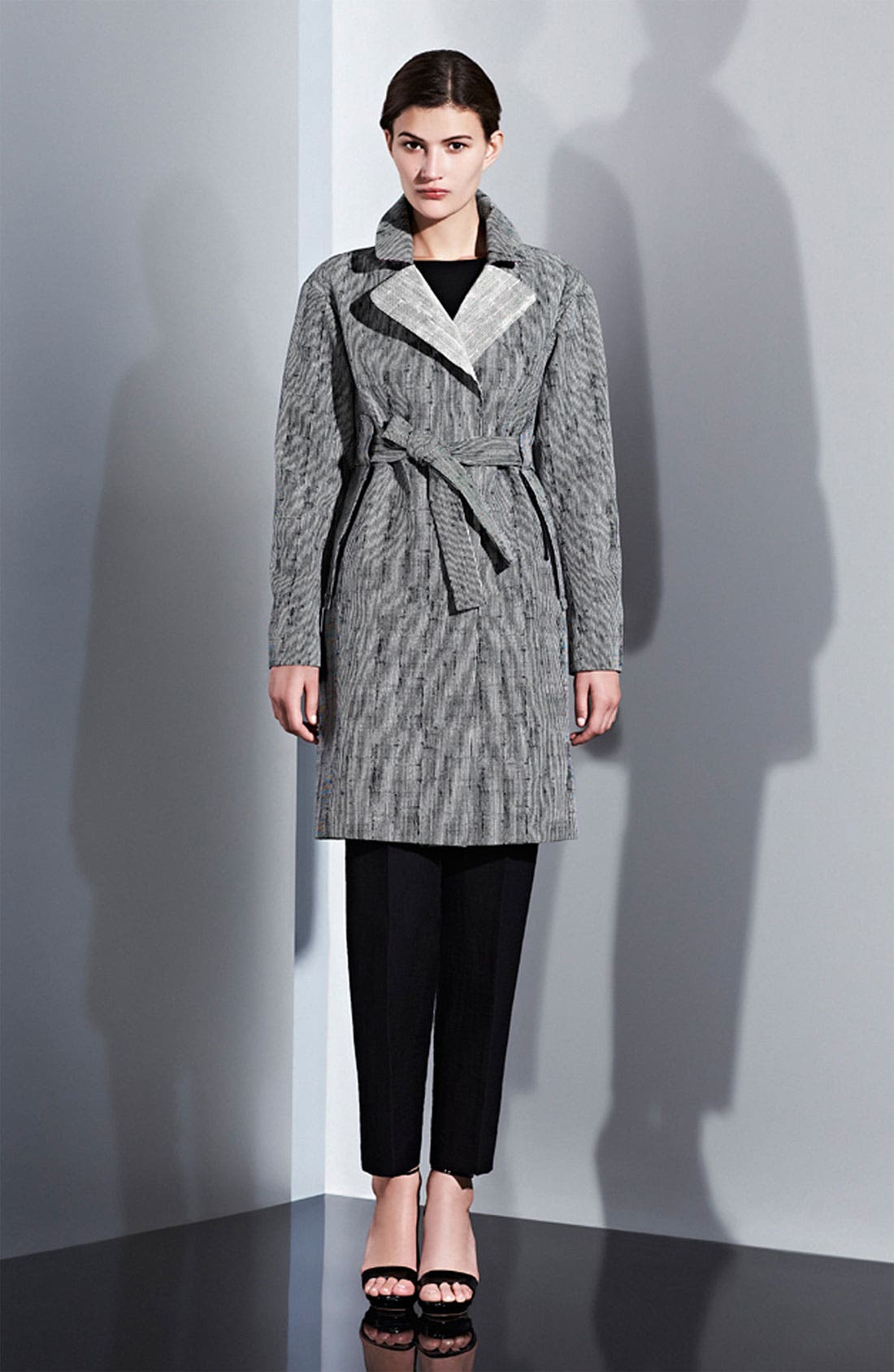 Alternate Image 4  - Lida Baday Stripe Jacquard Trench Coat
