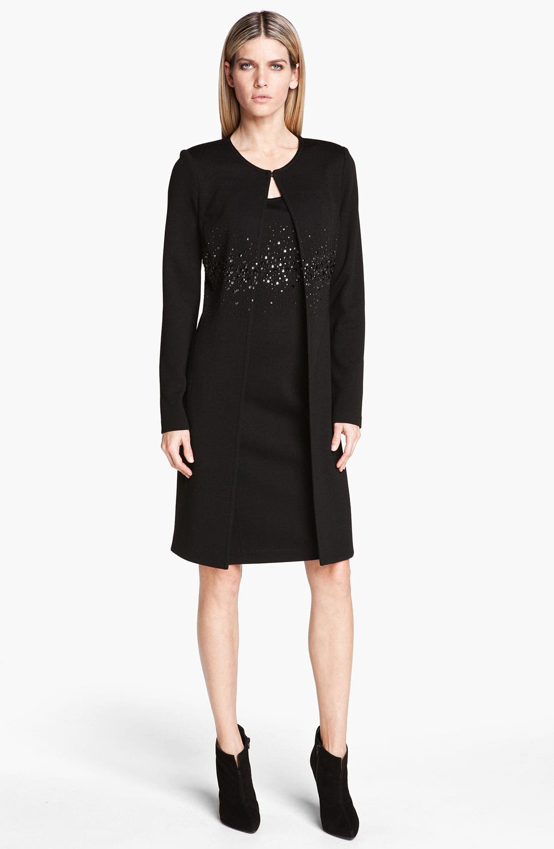 Alternate Image 2  - St. John Collection Sequin Detail Milano Knit Coat