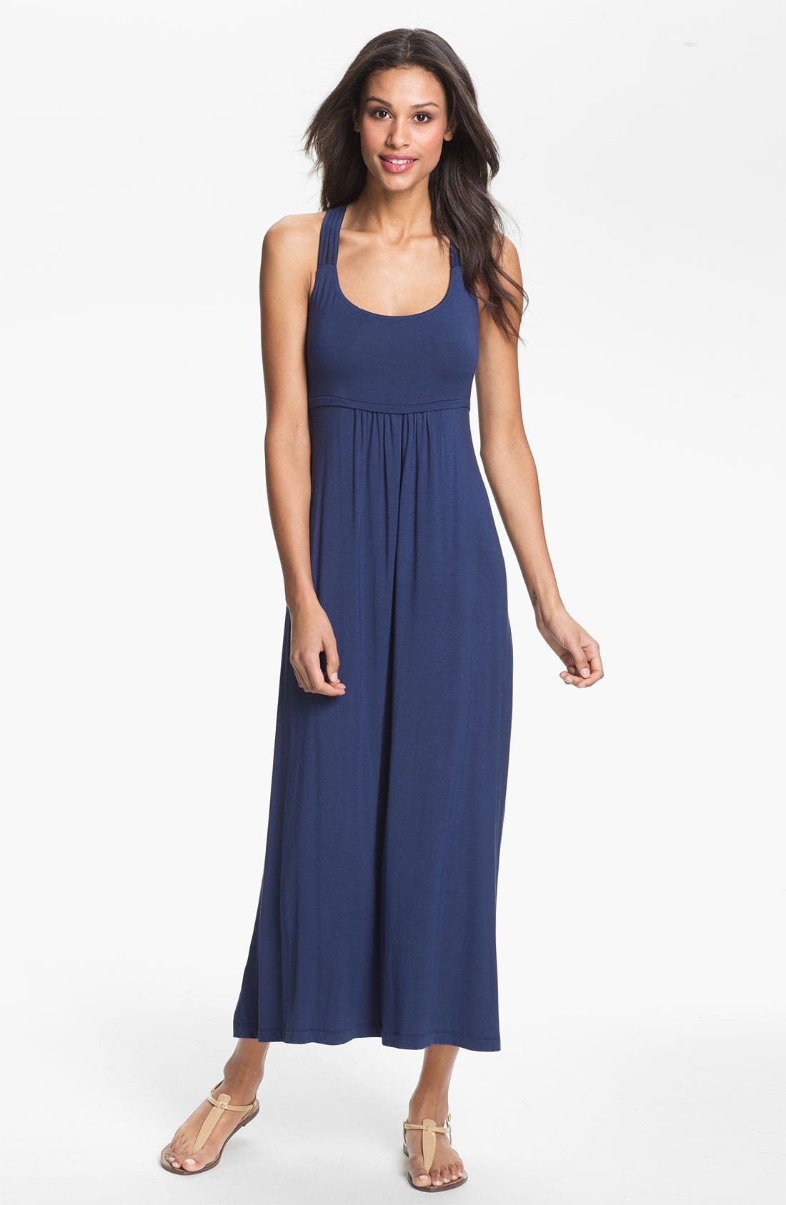 Alternate Image 1 Selected - Calvin Klein Cross Back Maxi Dress