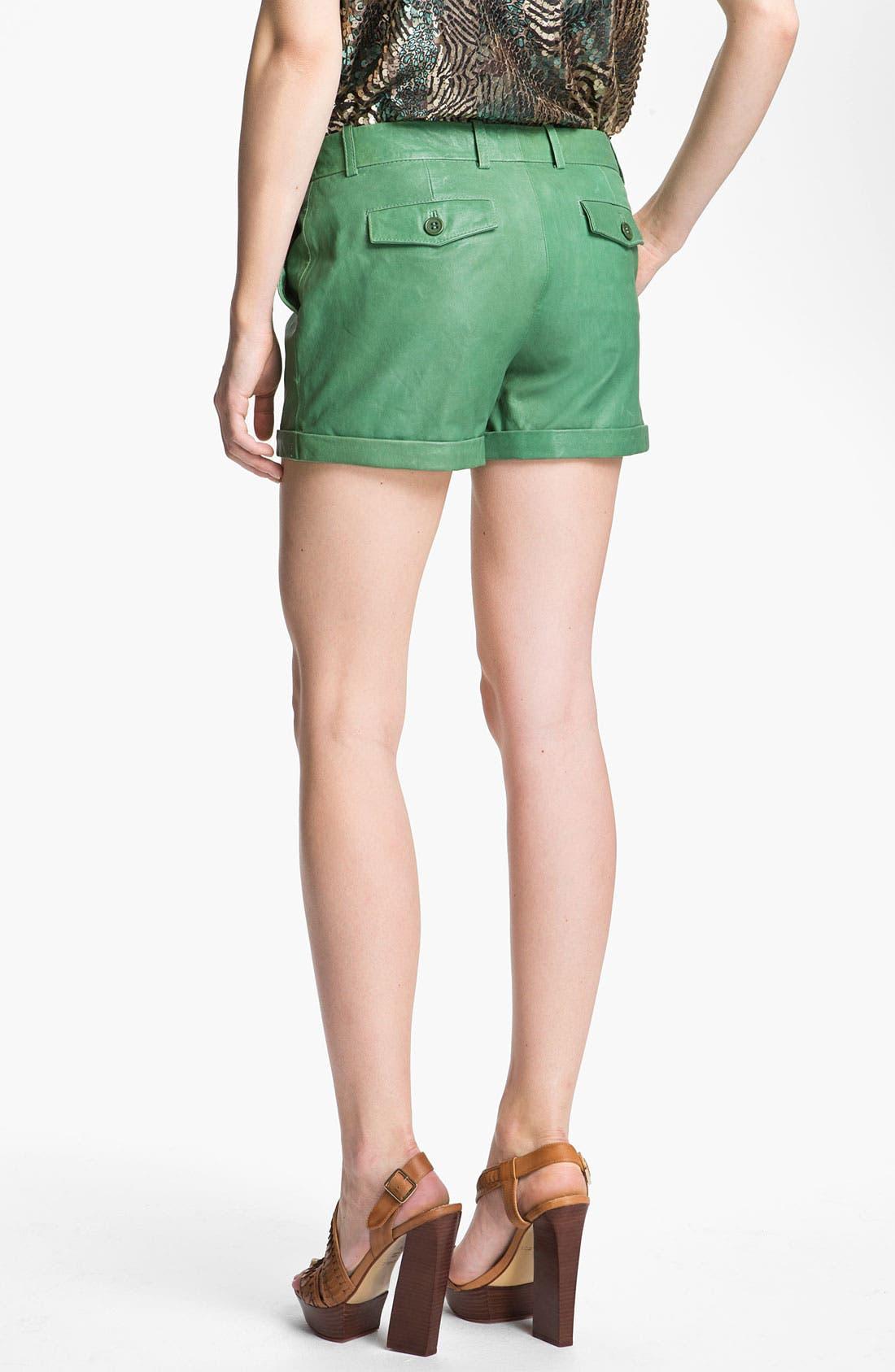 Alternate Image 2  - Rachel Zoe 'Justin' Leather Shorts