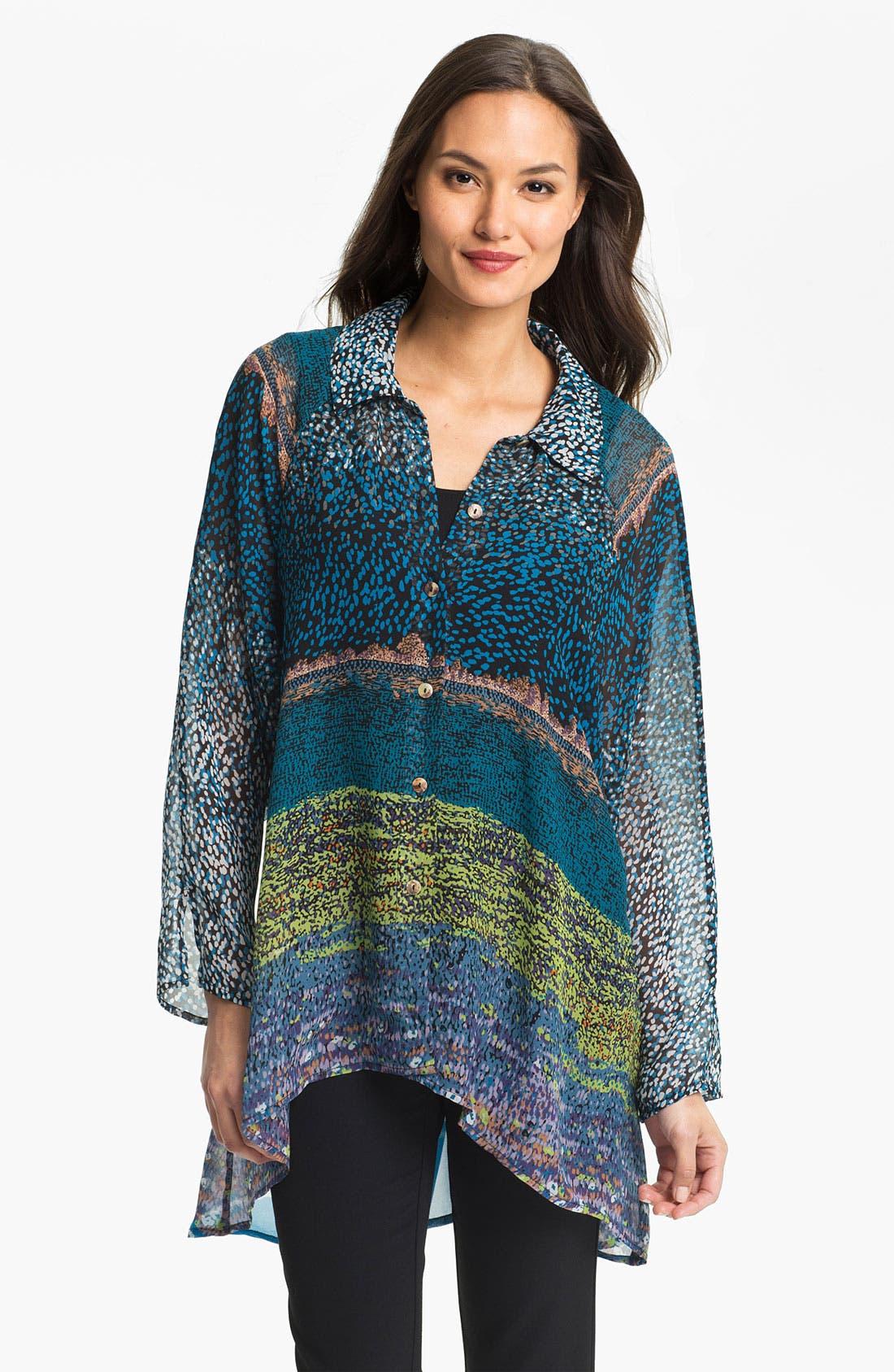 Main Image - Citron Silk Tunic Shirt with Tank