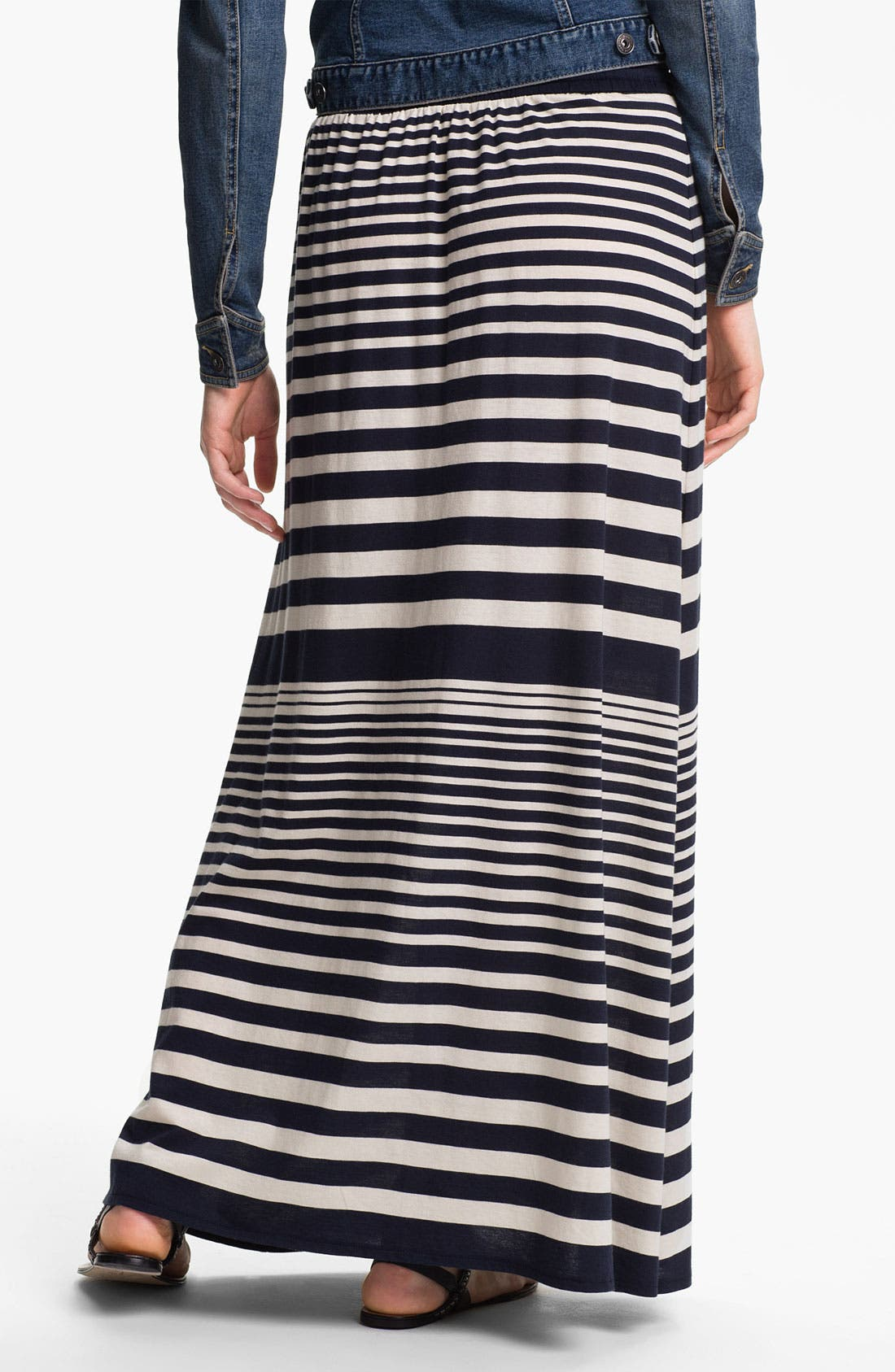 Alternate Image 2  - Two by Vince Camuto Nautical Stripe Maxi Skirt