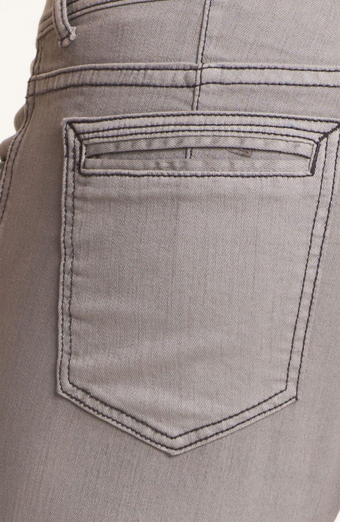 Alternate Image 4  - Ezekiel 'Chopper' Slim Straight Leg Jeans (Light Grey)