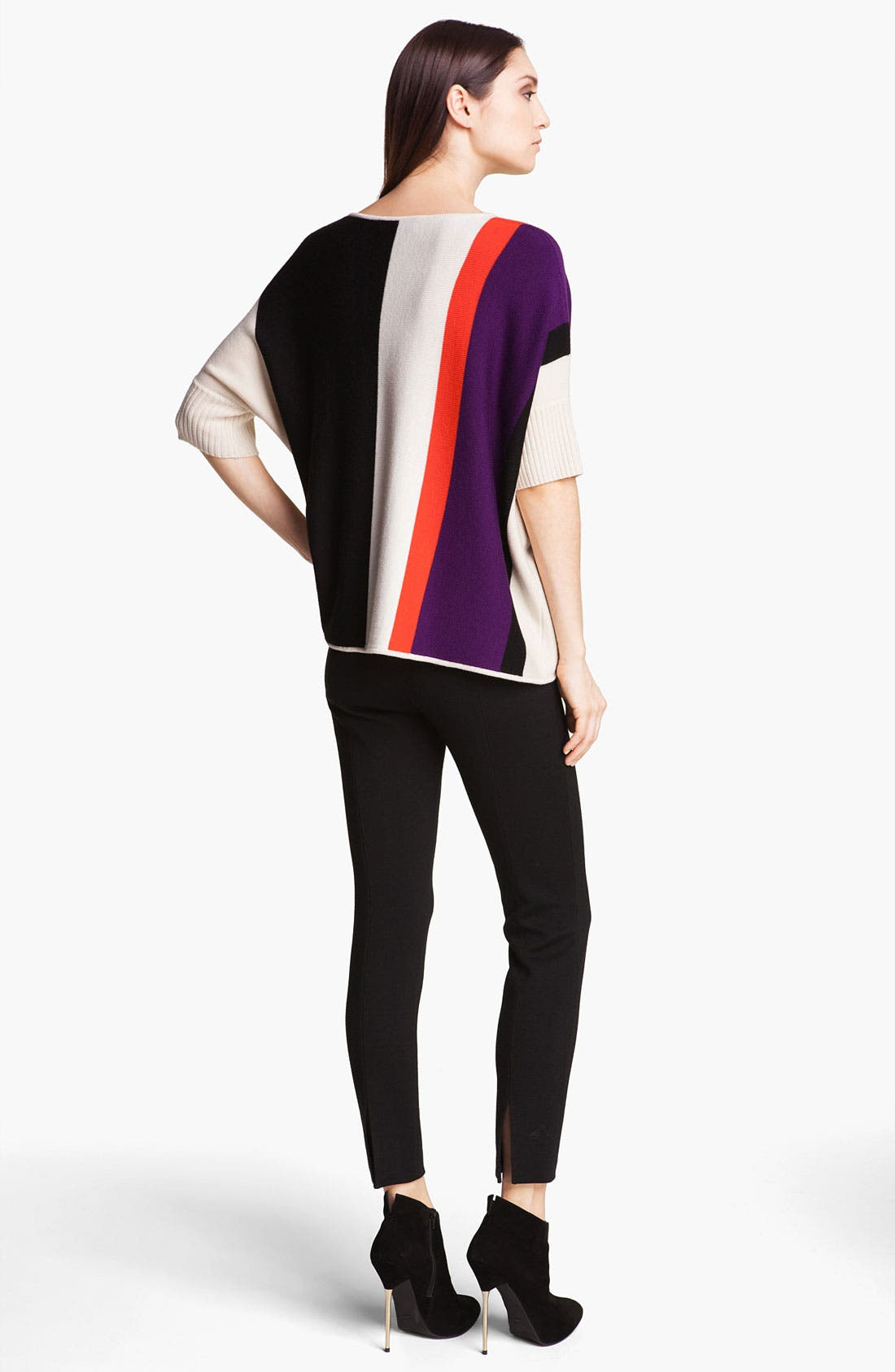 Alternate Image 3  - St. John Yellow Label Colorblock Sweater
